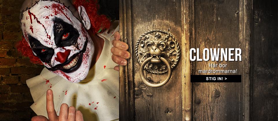 Skräckclowner får dig att gråta, men inte av skratt! De snyggaste Halloweenkostymerna finns på Vegaoo.se!