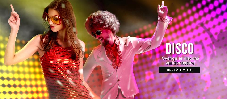 Discokläder och discodräkter för stora och små!