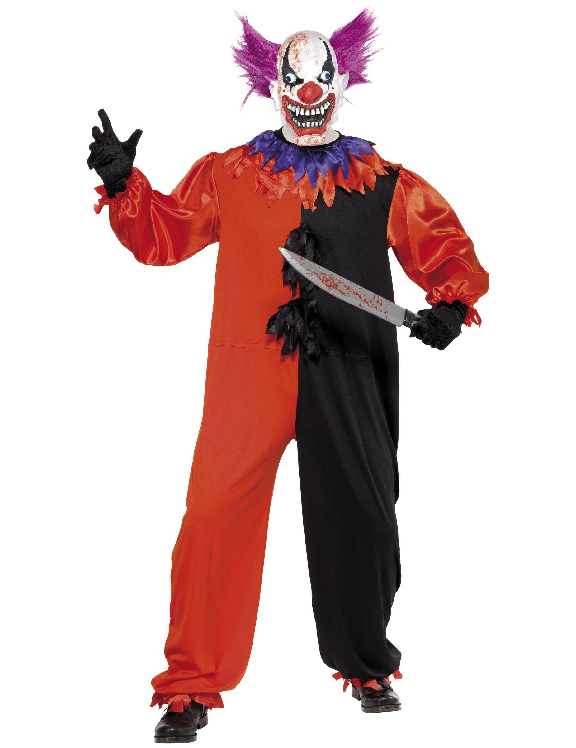 Läskig clown-dräkt vuxen 1288ed4089d8e