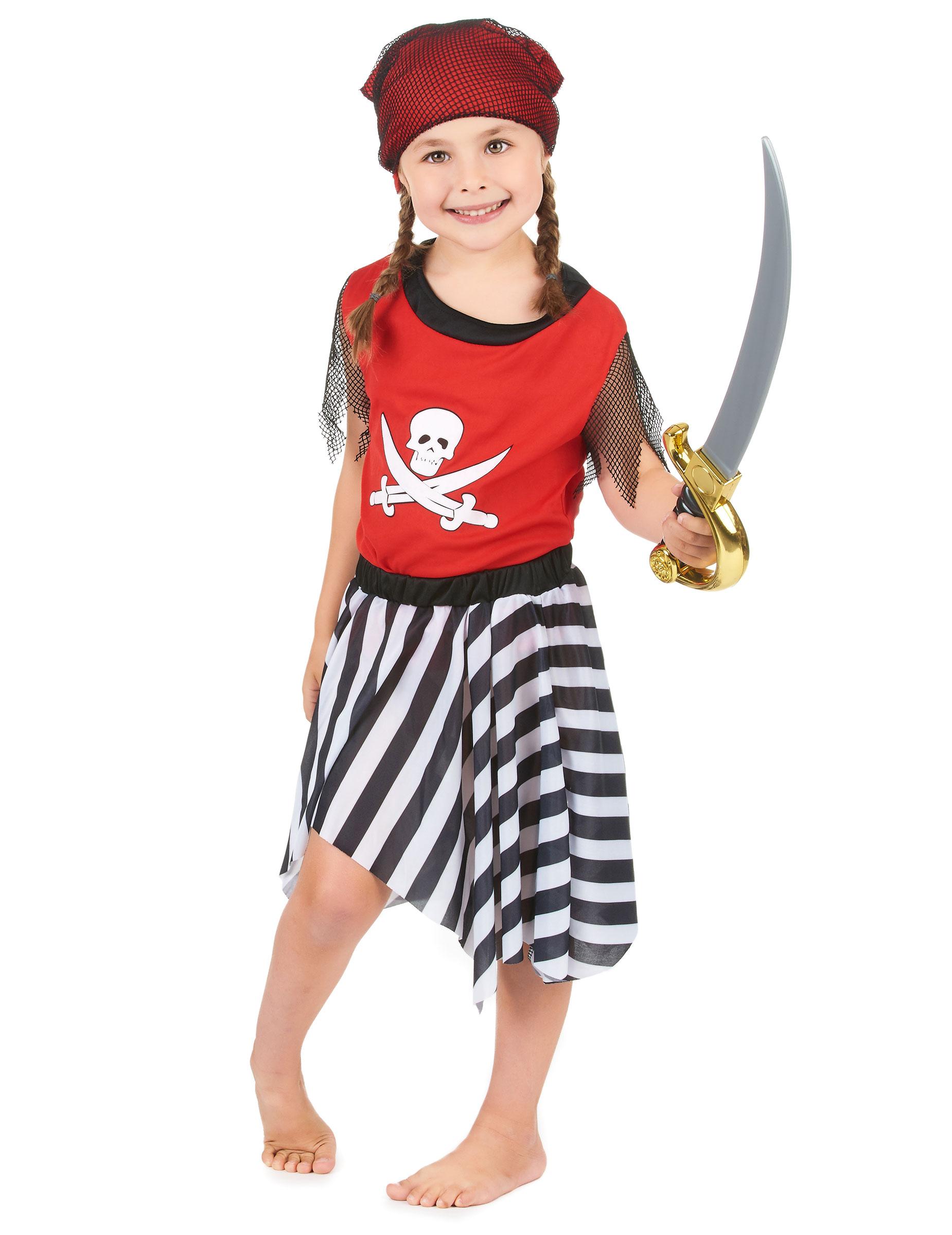 Pirat med randig kjol - Maskeradkläder för barn 0673b99d2831b