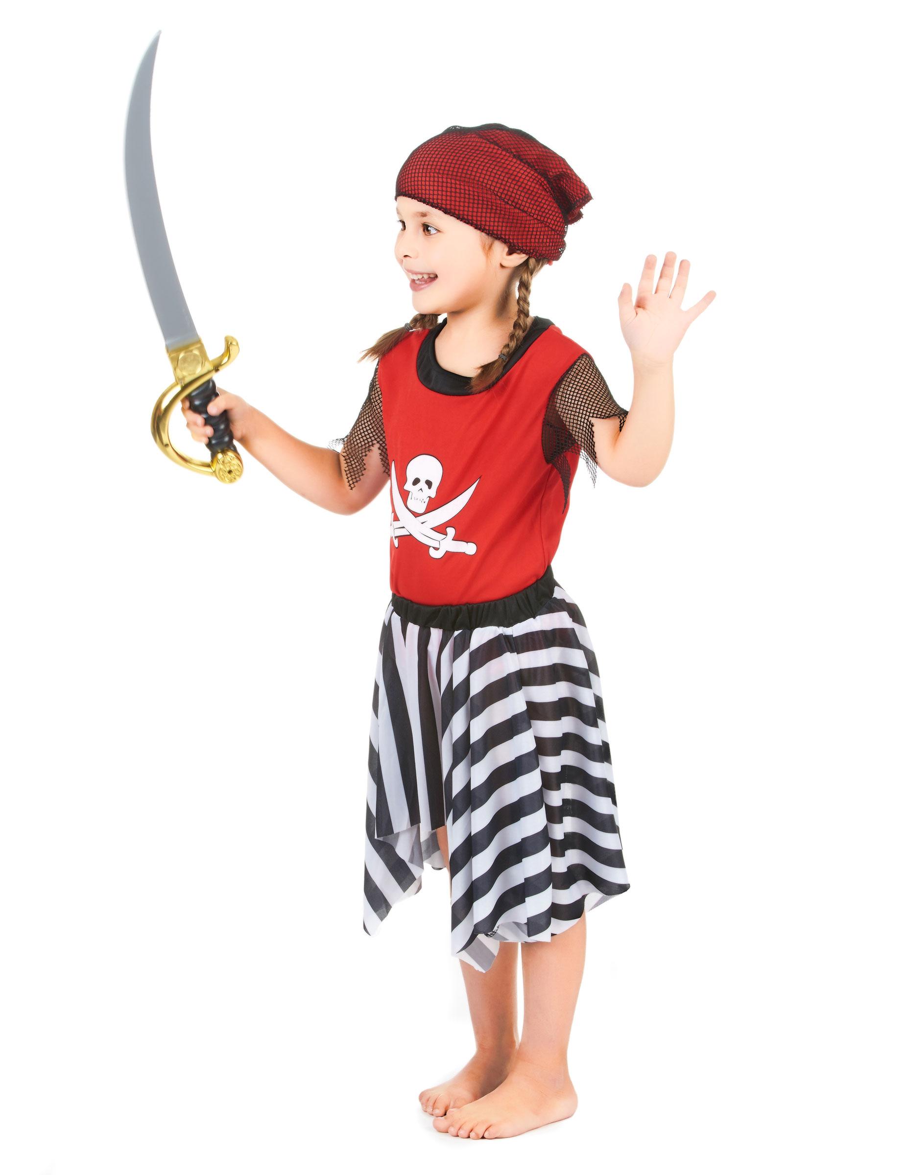Pirat med randig kjol - Maskeradkläder för barn-1 fad710714bb2c