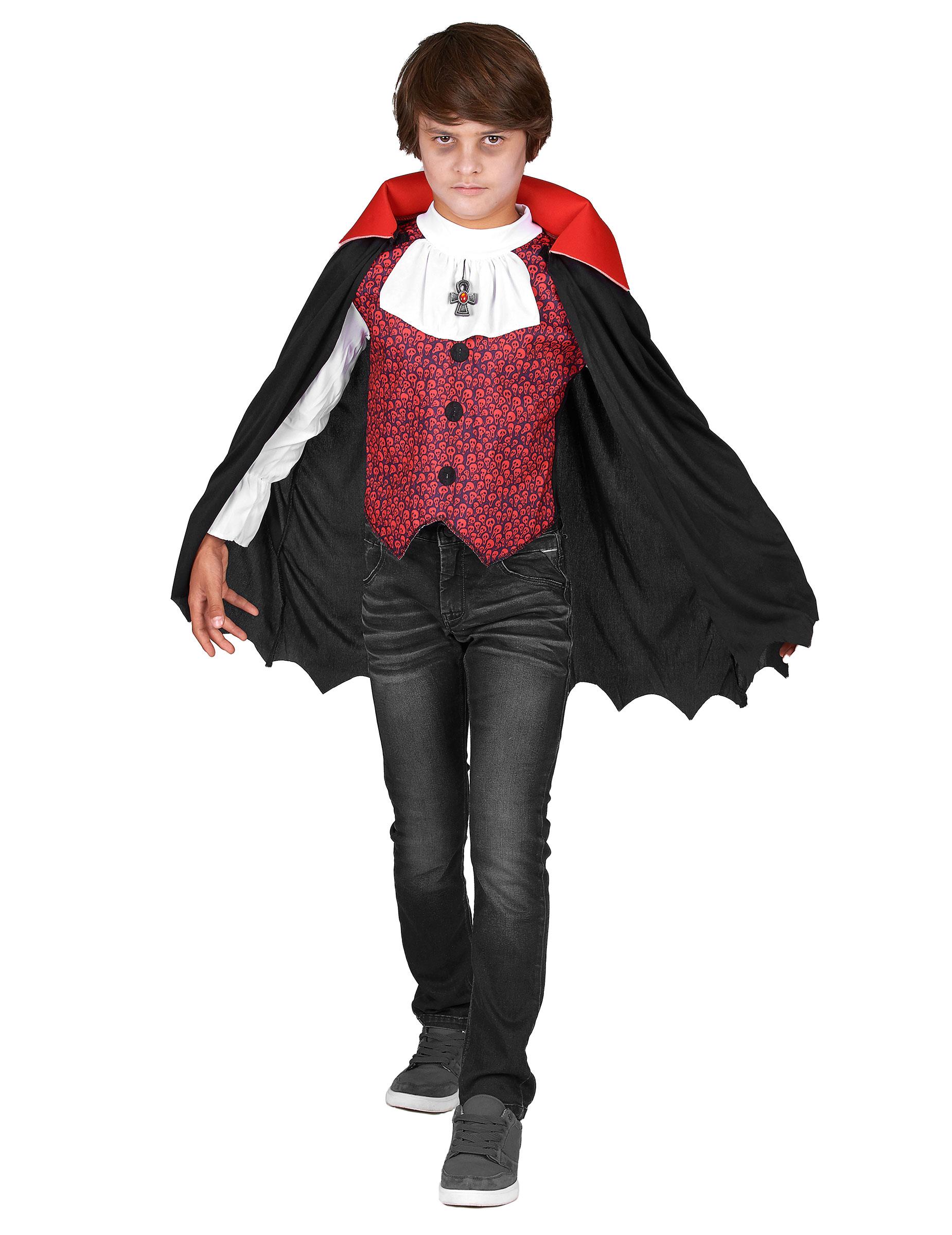 Vampyr med fräck mantel - Utklädnad för barn till Halloween 21b08db059e7c