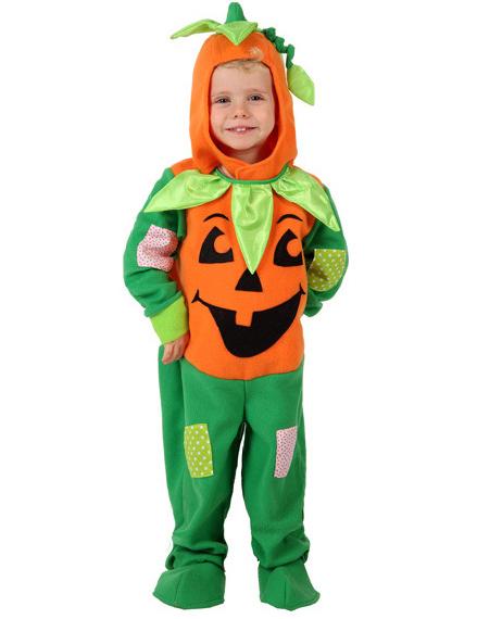 Orange och grön pumpadräkt barn Halloween a8e3beda4c275