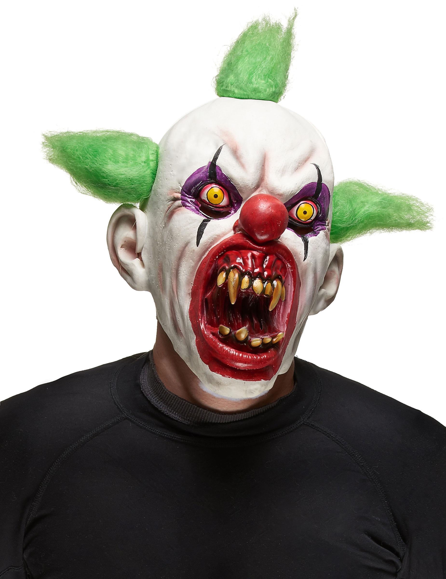 Skrämmande clownmask Halloween vuxen eceb0715458c2