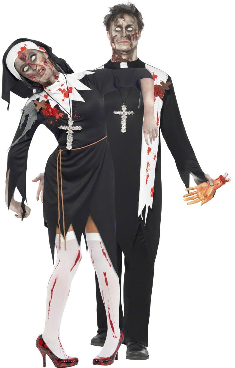 Zombiepräst och nunna - Halloweenkostym för par 118a6152b207f