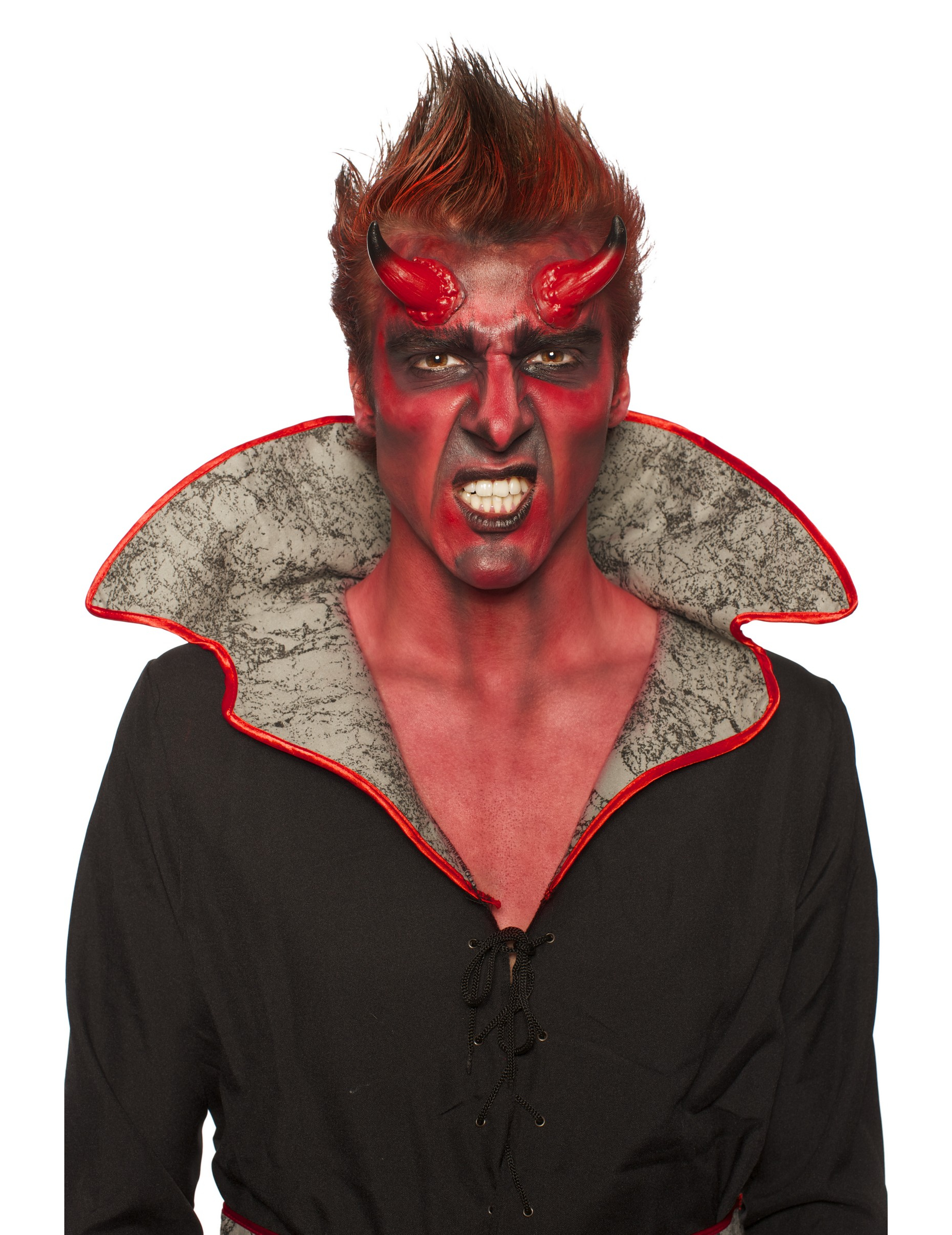 halloween djävul smink