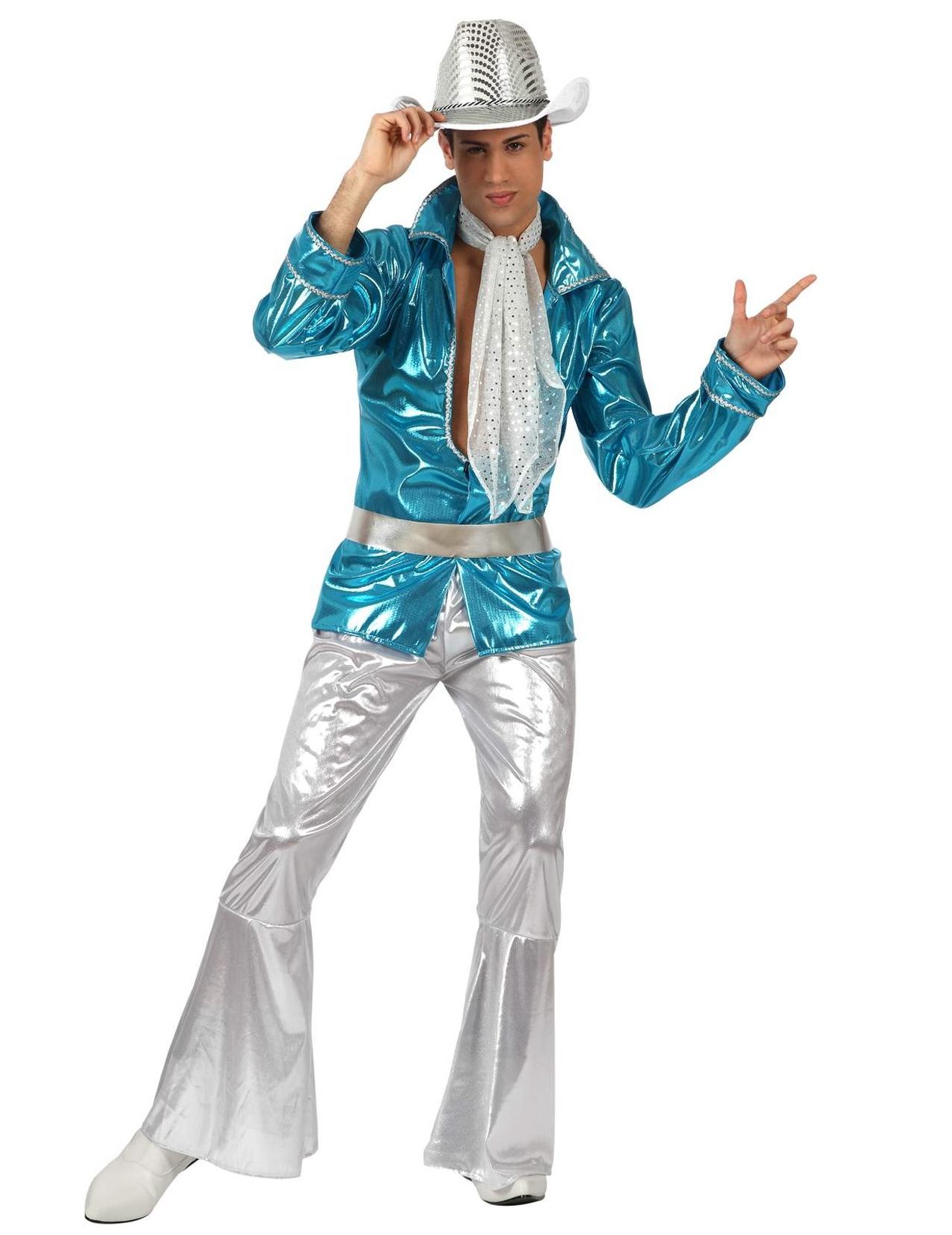 Vegaoo Blå discodräkt man
