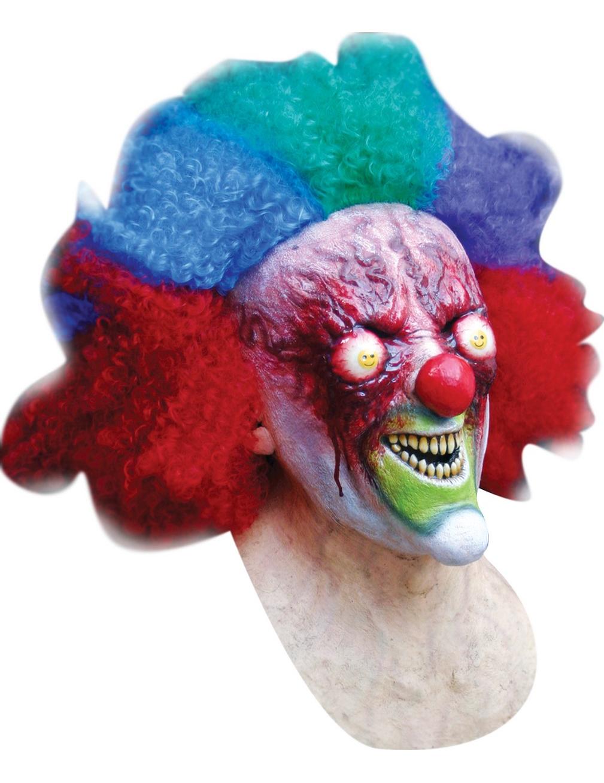 Clownmask med bränt ansikte Vuxen Halloween ae47725808914