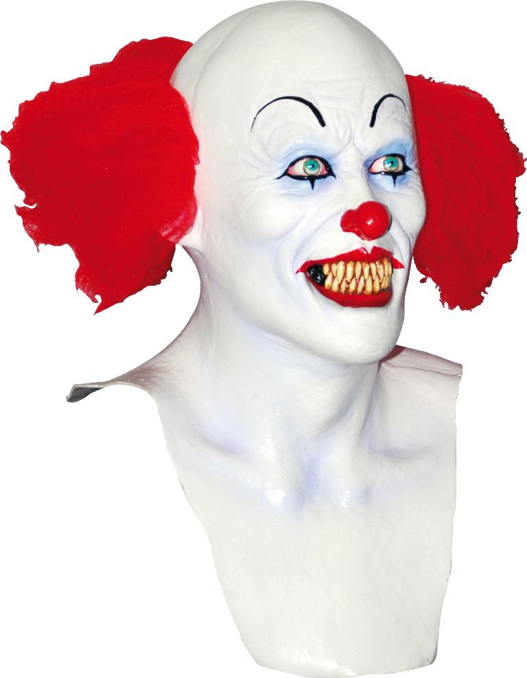 Clownmask med vitt ansikte för vuxen till Halloween 2173eb8230ade