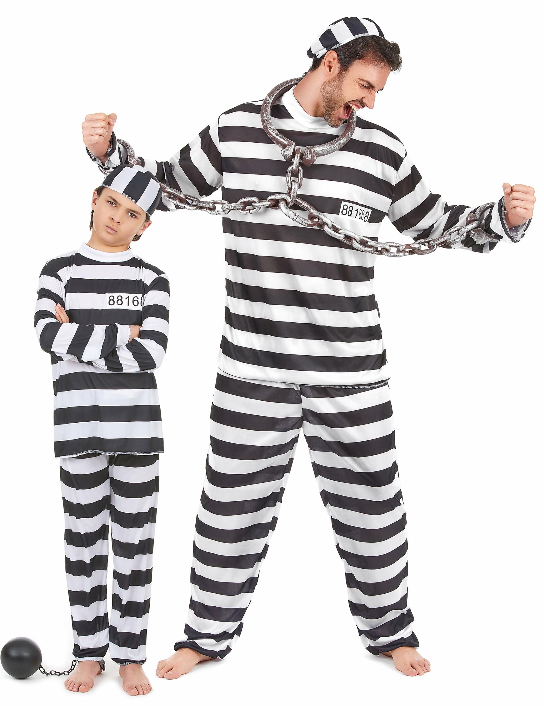 Liten och stor fånge - Pardräkt för vuxen och barn 52996a5f36f6c