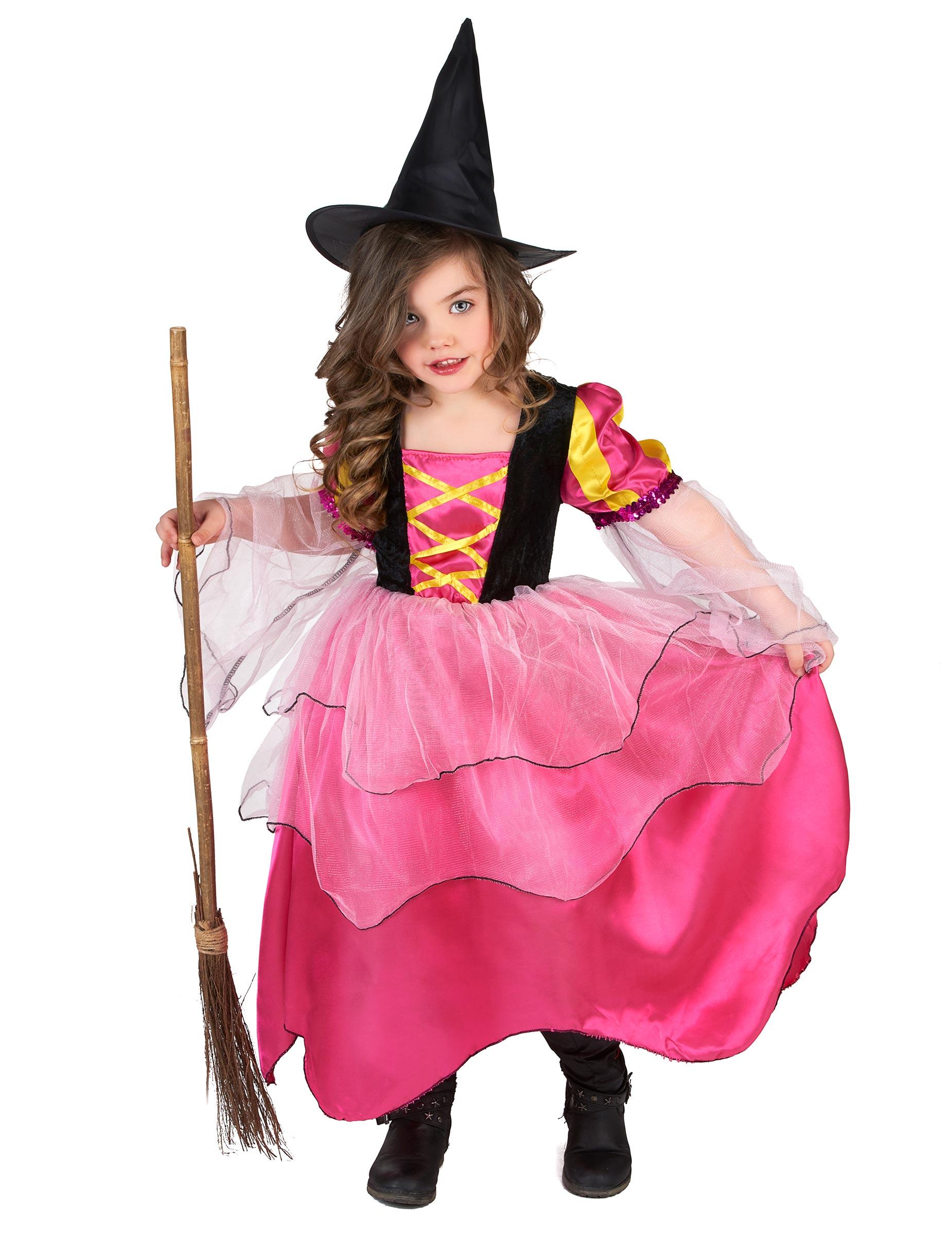 Tjusig rosa häxa - Maskeraddräkt för barn 28fa5b11c0977
