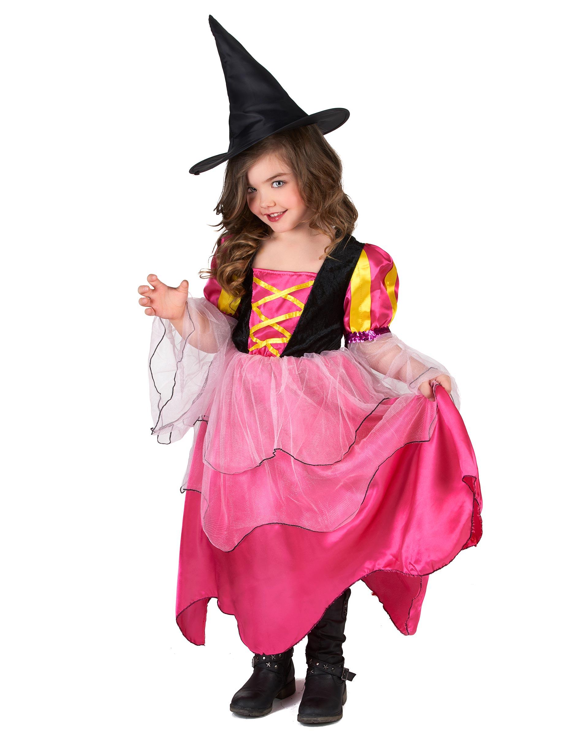 Tjusig rosa häxa - Maskeraddräkt för barn-1 67692b1b1ec6f