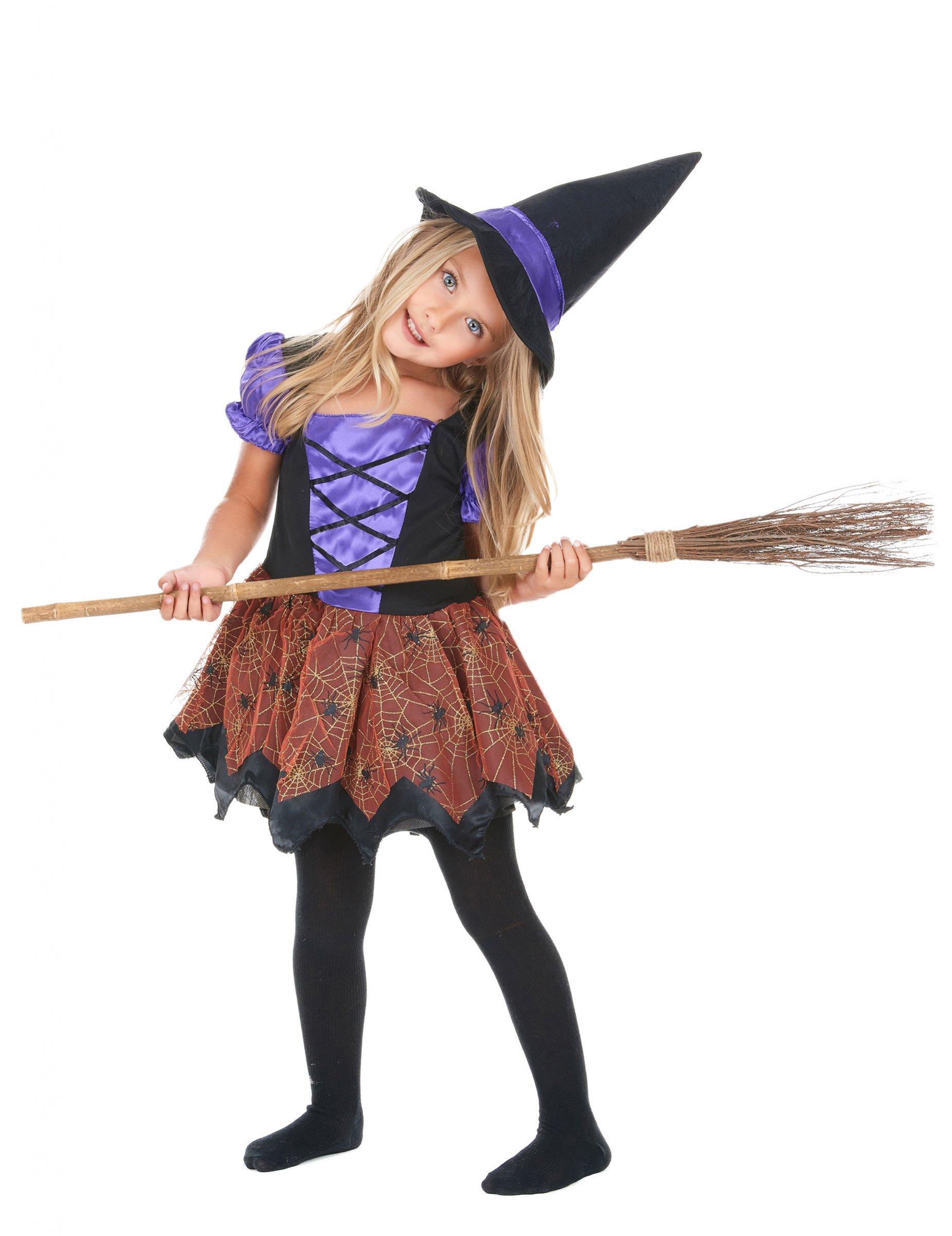 Häxa - Dräkt för barn till Halloween 1280a00d7716b