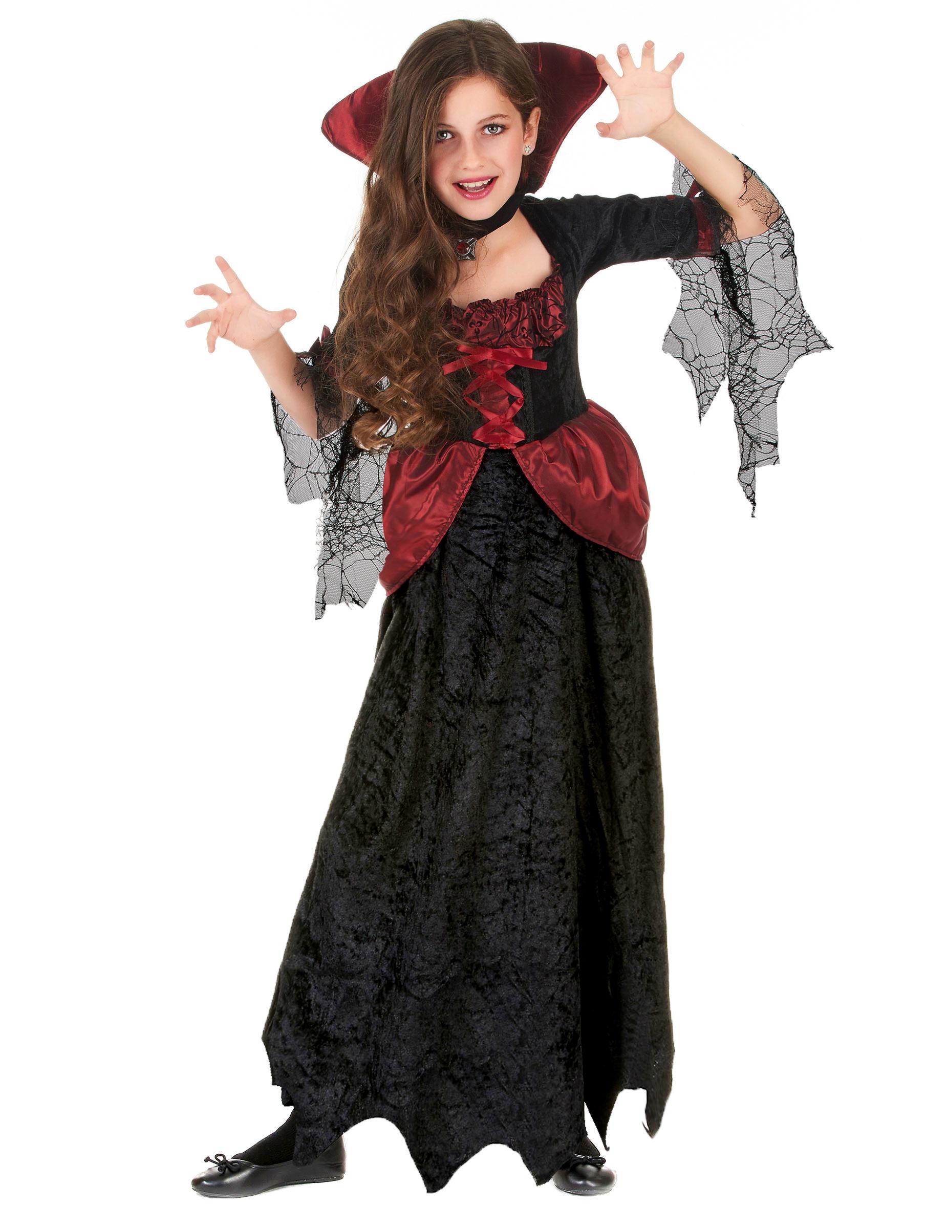 Vampyrklänning med lång kjol - Halloweenkostymer för barn a9f602feef003