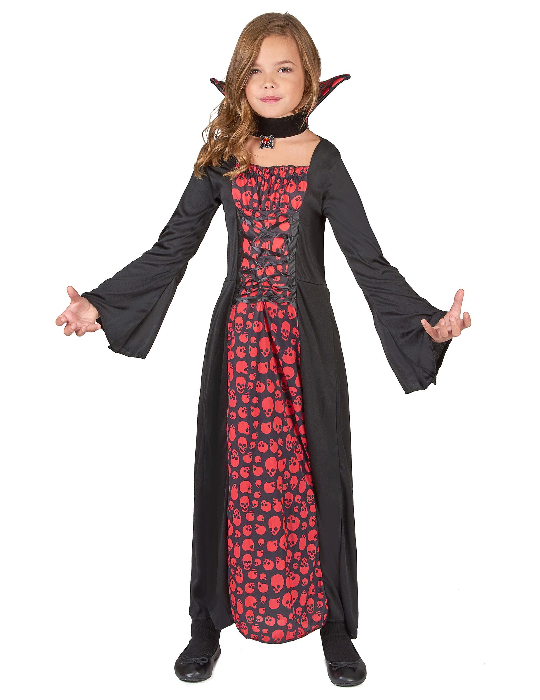 Lång vampyrklänning - Halloweenkläder för barn 5e1f82fa9af1b