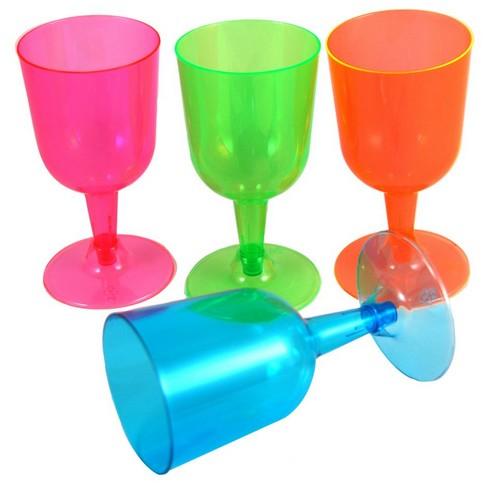 20 rosa vinglas i plast till picknicken Festdukning, köp