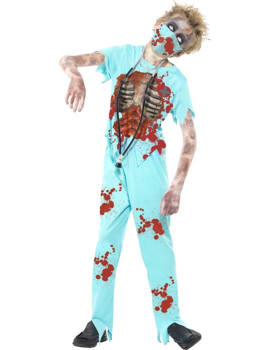 Doktor Zombie Maskeraddräkt Barn Halloween a5542ca83311e