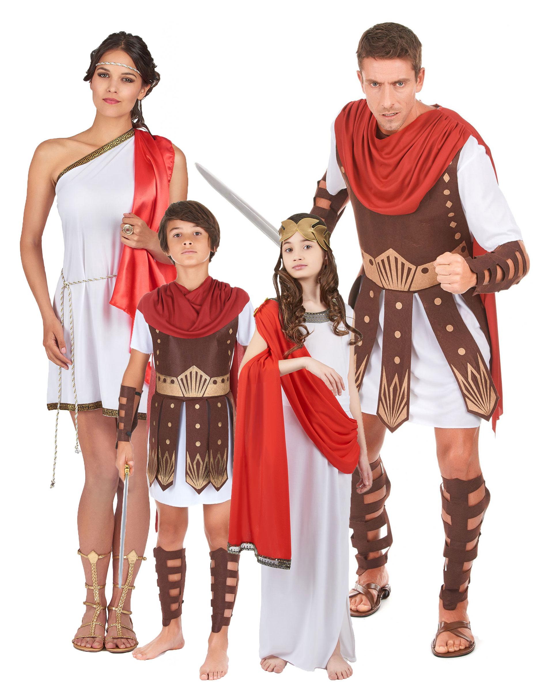 Forntida romersk familj - Gruppdräkt för vuxna och barn 94c89a9310dfd
