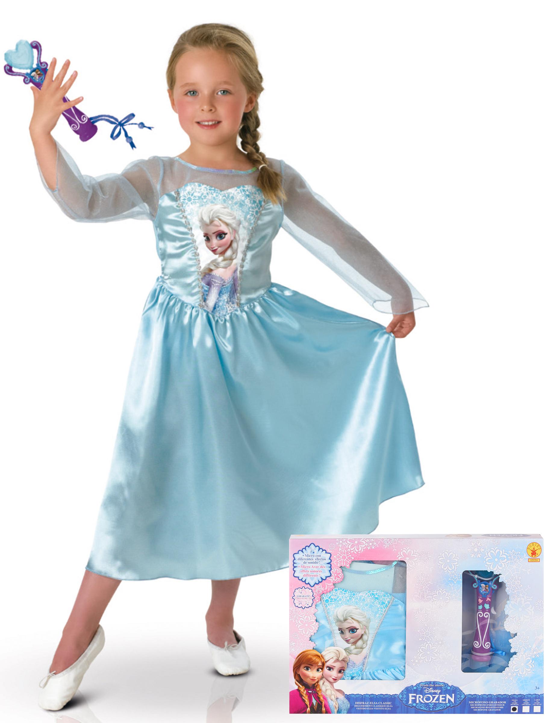 Klassisk Elsa Frozen™ - utklädnad + mikrofon 1eb23721ae77d