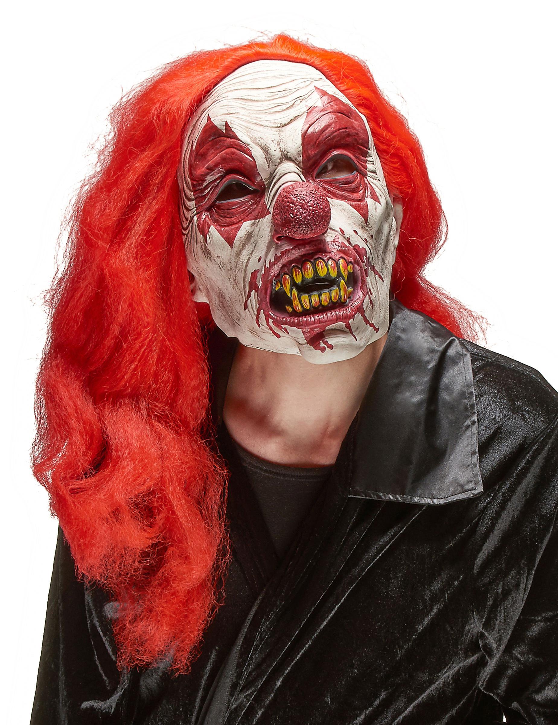 Skrämmande Clownmask i Latex Halloween Vuxen 4be12b3785331