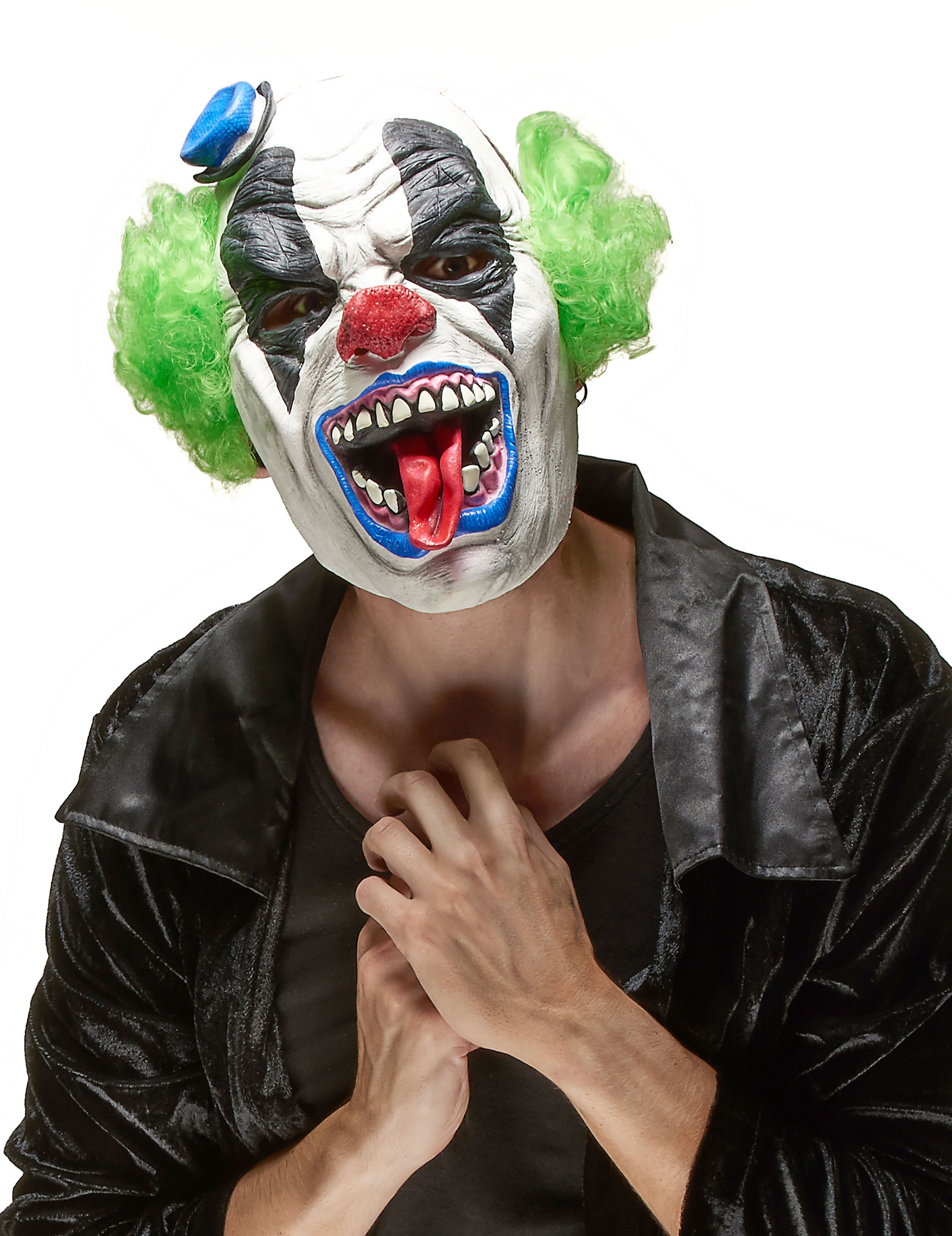 Fruktansvärd Clownmask i Latex Halloween Vuxen 41188670babe0