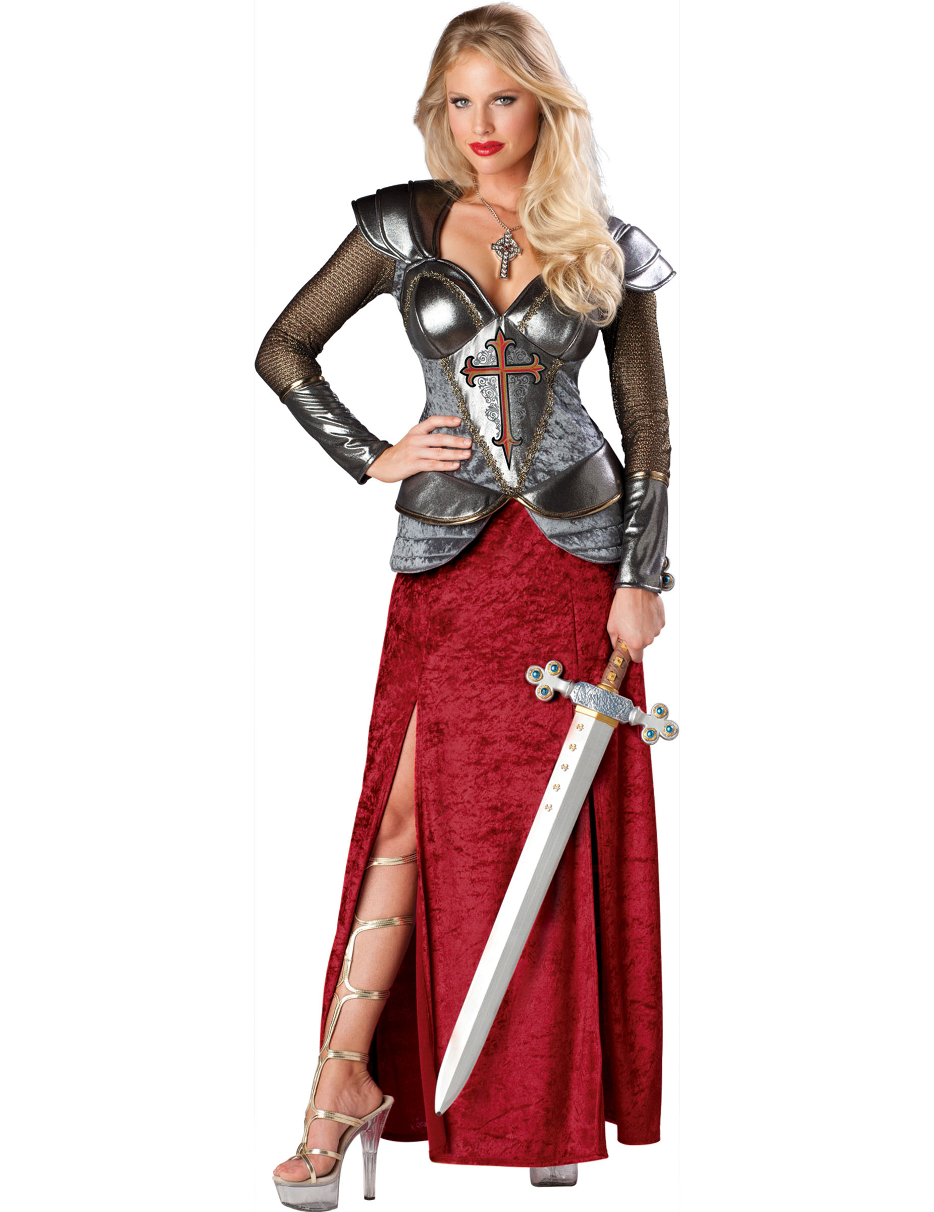 Maskeraqddräkt Jeanne d Arc damer Premium bf9a5e2f95c29