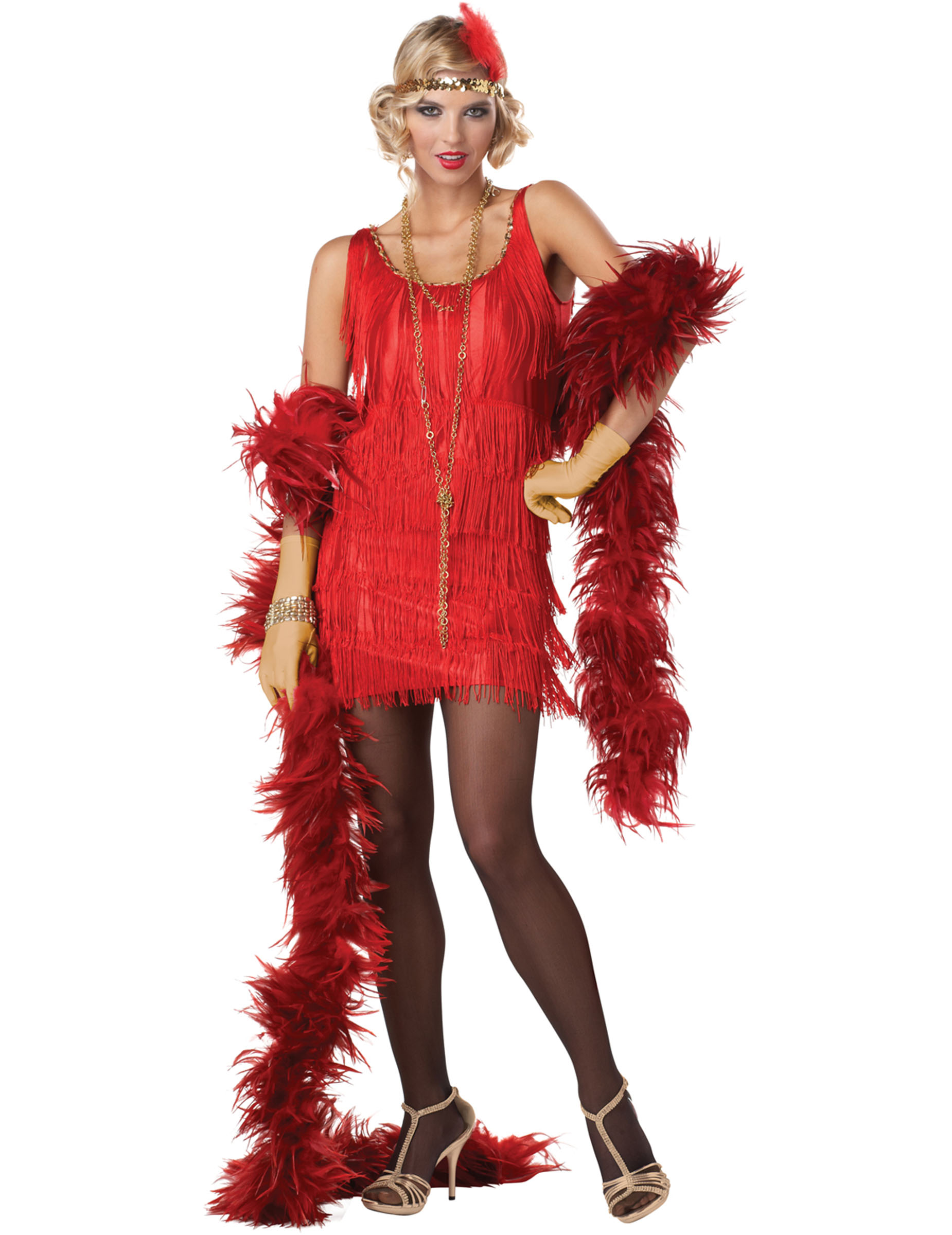 935eff2cfa20 Röd Maskeraddräkt Charleston vuxen, köp Maskeradkläder för vuxna på ...