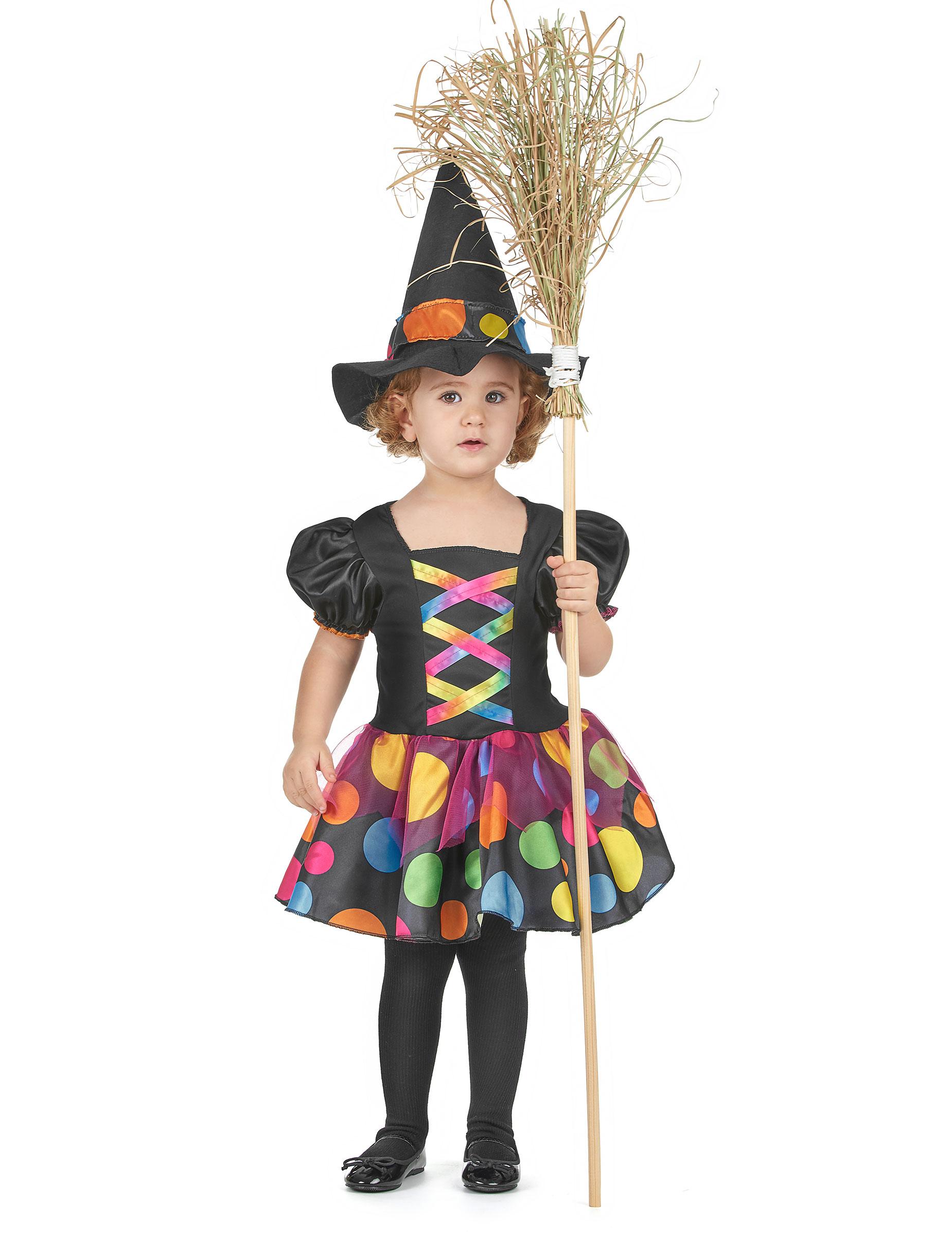 Färgglad häxdräkt - Halloweendräkt för barn 7b495760d8d43