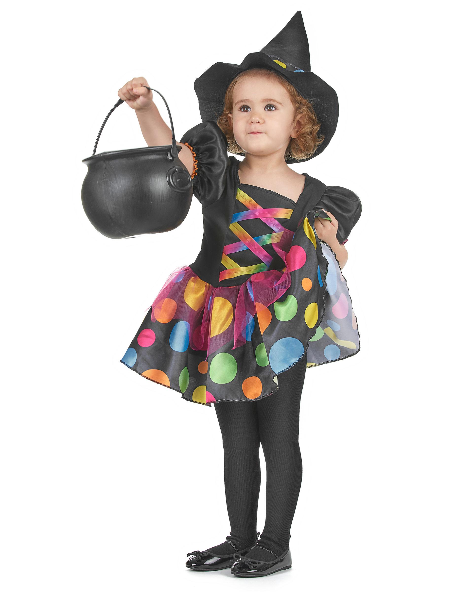 Färgglad häxdräkt - Halloweendräkt för barn-1 8de3191d552a8