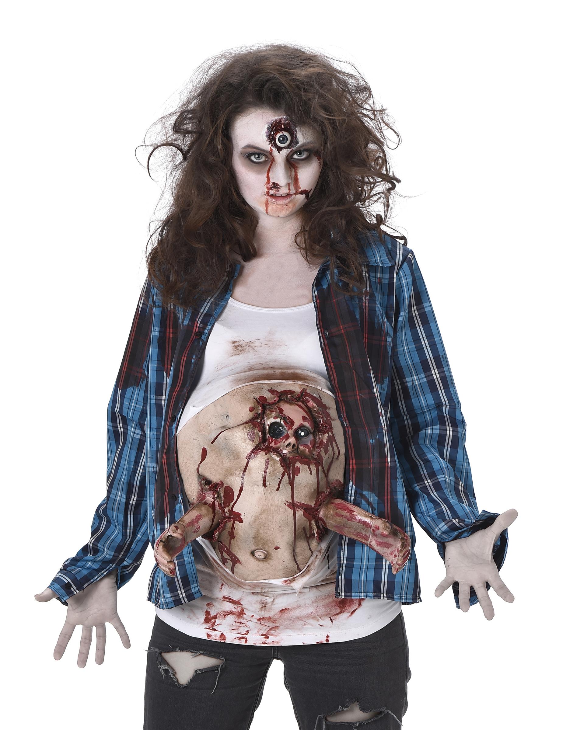 Gravid zombie - Halloweenkostym för vuxna-1 6bd8a9836d62e