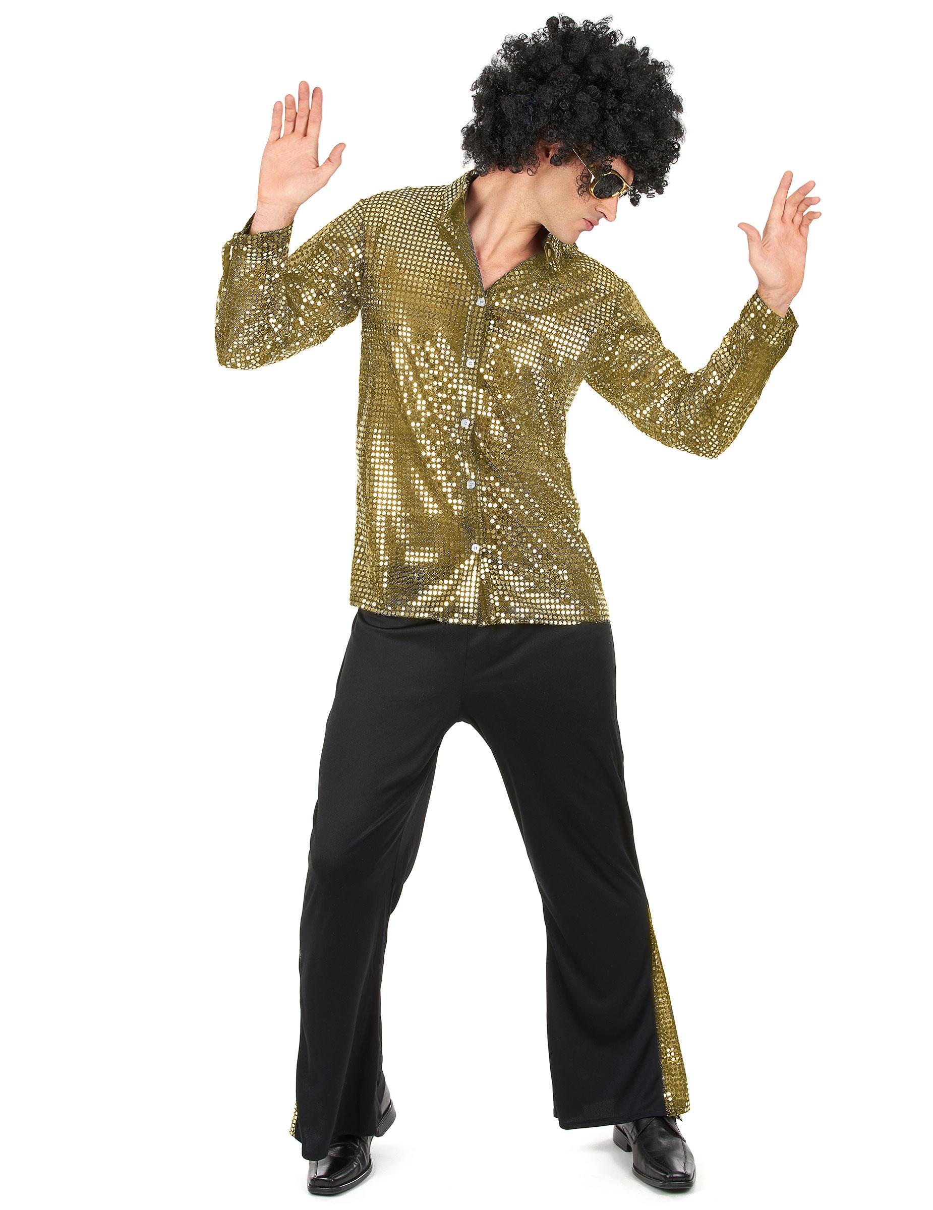 Gyllene discodräkt - Maskeradkläder för vuxna 2ad604908ee83