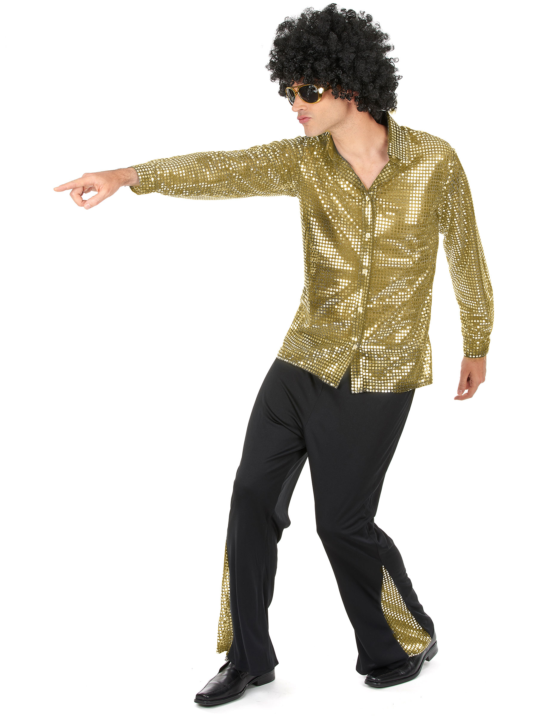 Gyllene discodräkt - Maskeradkläder för vuxna-1 5eb4a13c4c4d6