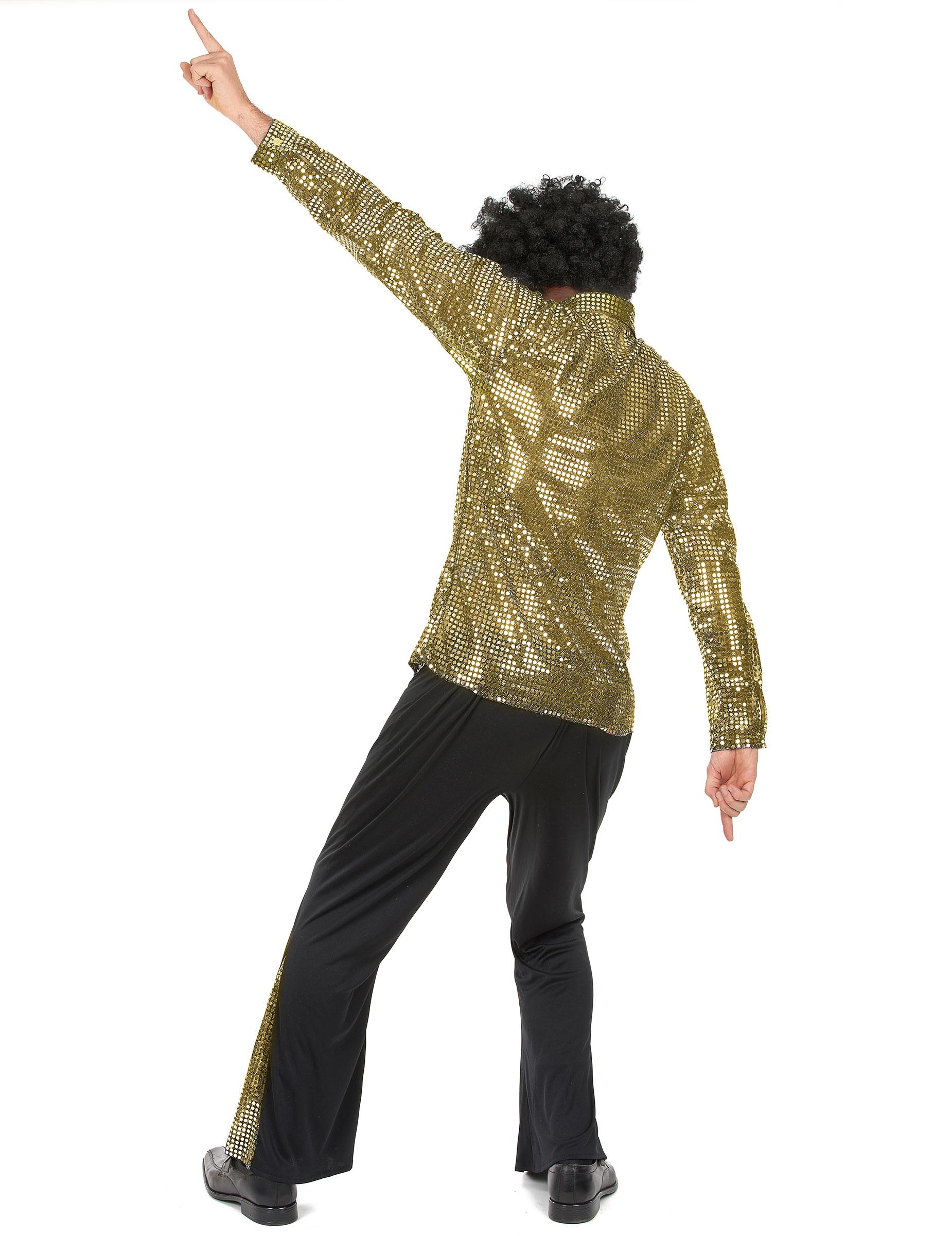Gyllene discodräkt - Maskeradkläder för vuxna-2 7ce9ae34289b1