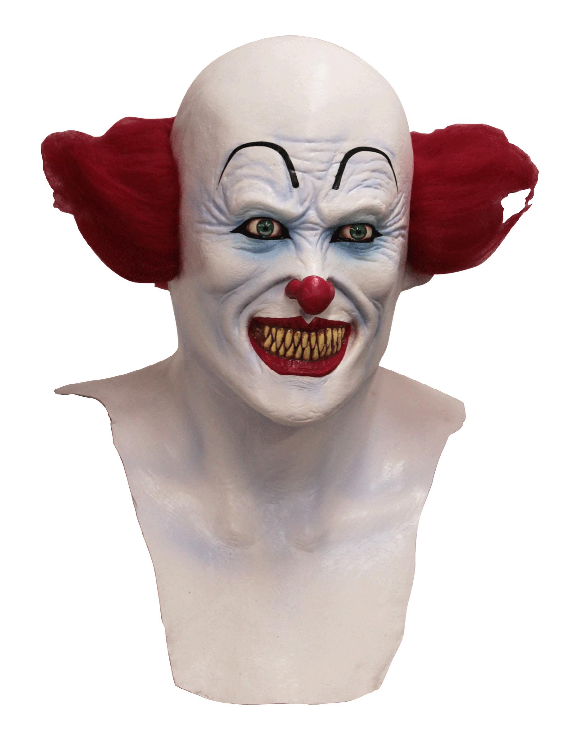 Heltäckande djävulsk clown-mask för vuxen till Halloween 3b118227a7fcf
