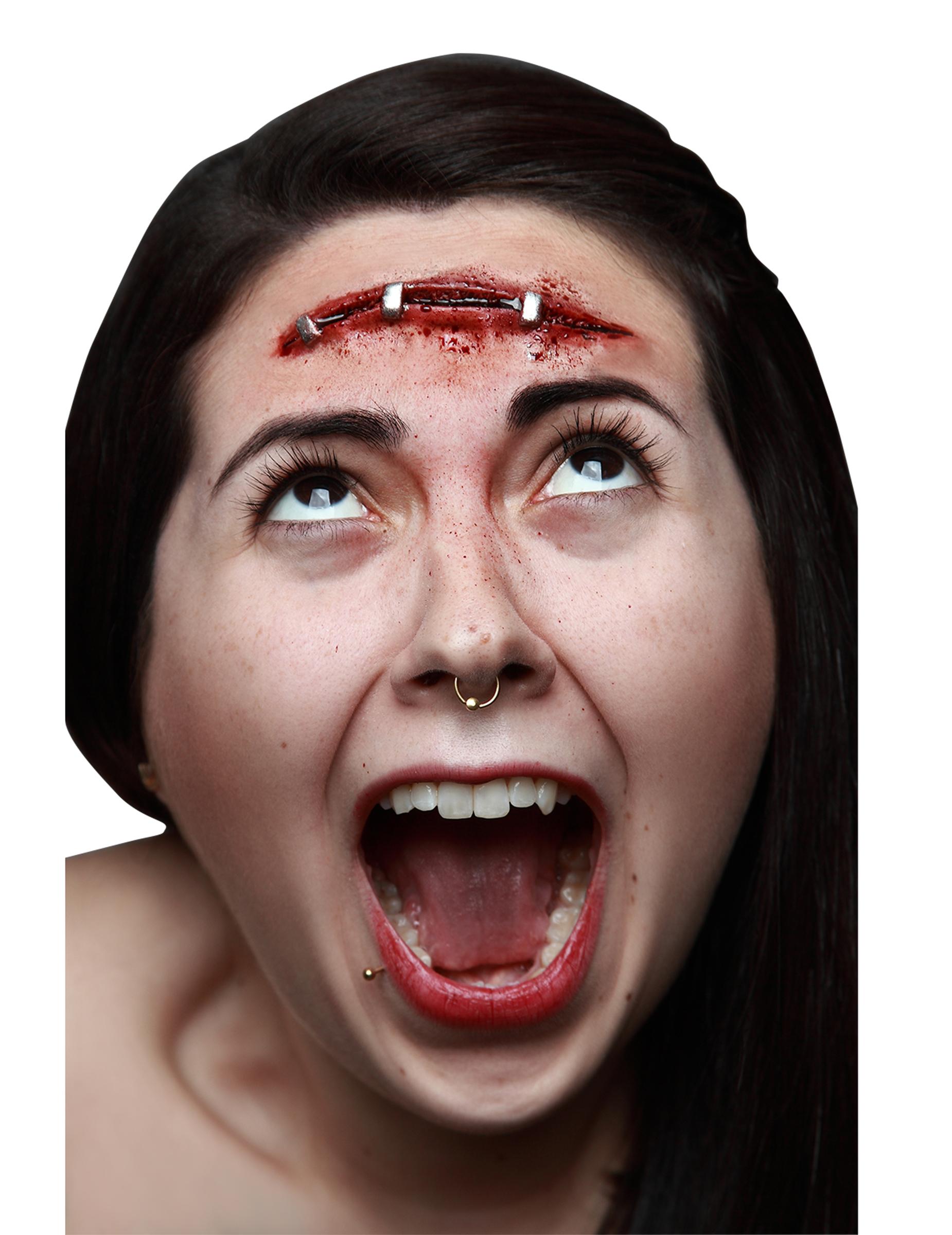fejk sår till halloween