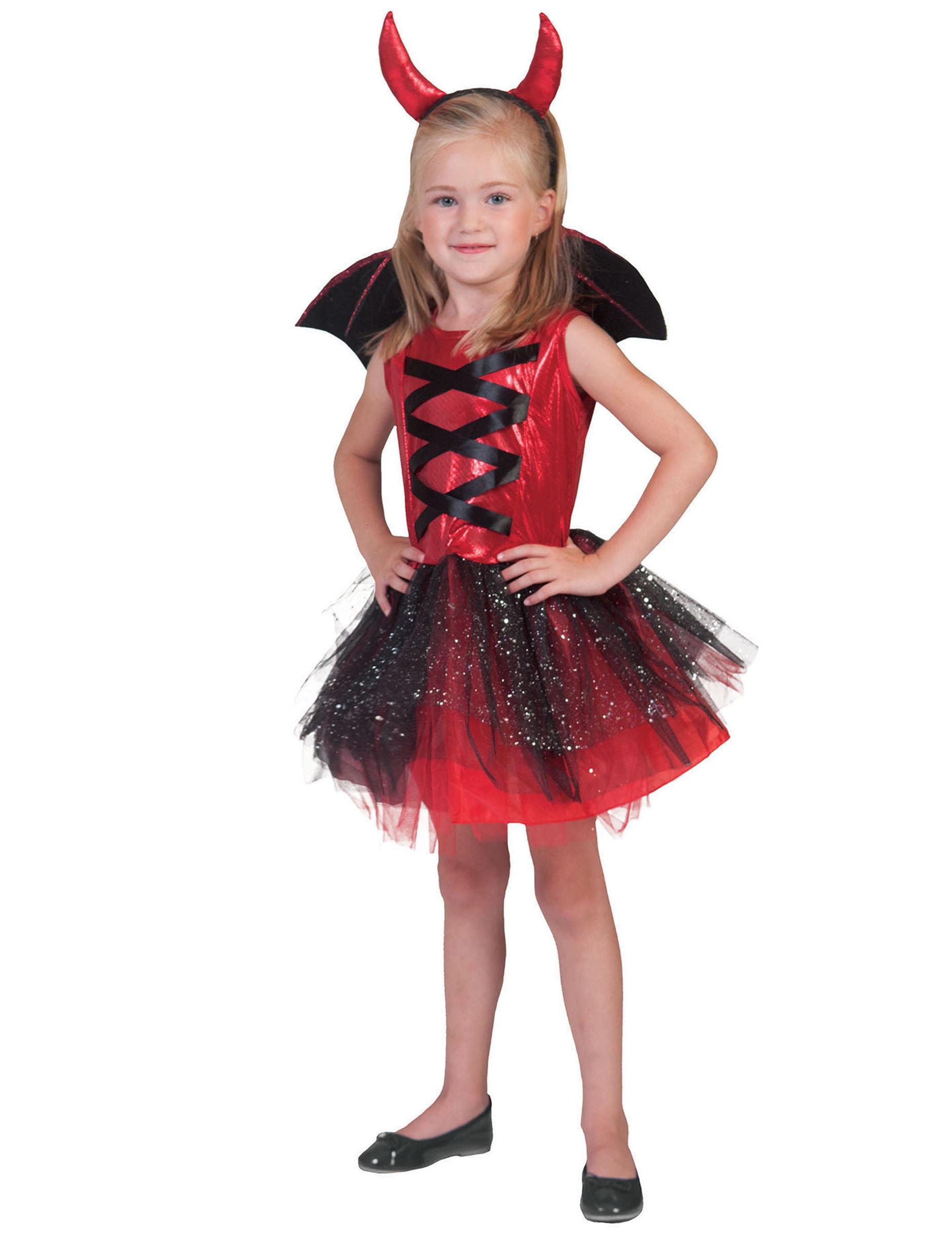 Liten djävulinna med tutukjol och vingar Halloween f36638ceef23e