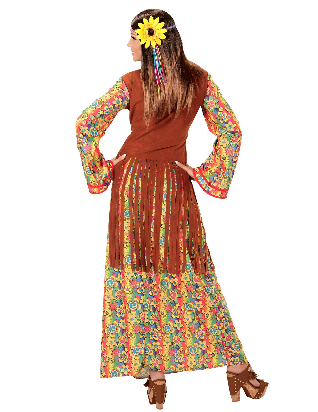 392a2505337 Lång hippieklänning med fransar - Maskeraddräkt för vuxna, köp ...