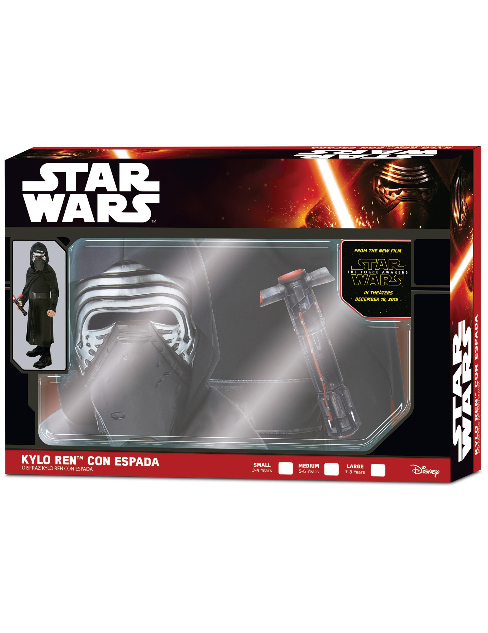 Kylo Ren™ med lasersvärd - Maskeraddräkt för barn från Star Wars VII ... 898a338208652