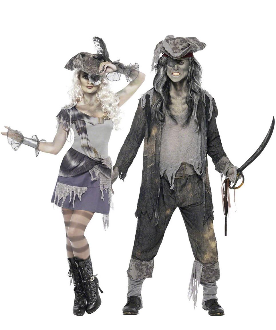 Par i spökpirater - Halloweenkostymer för par 0087aa1bb4d43