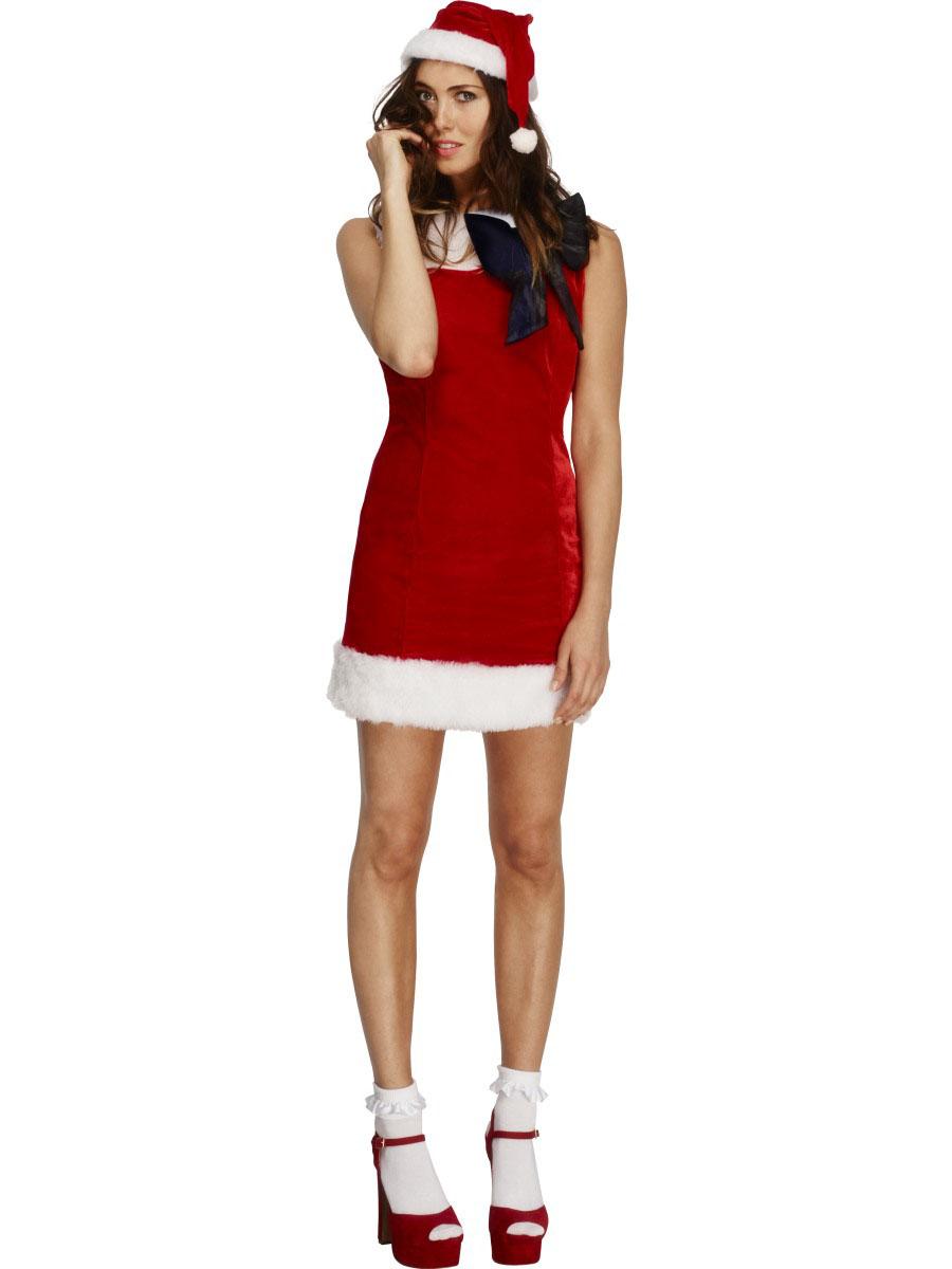 Sexig julklänning med svart rosett c2cb780835ac2