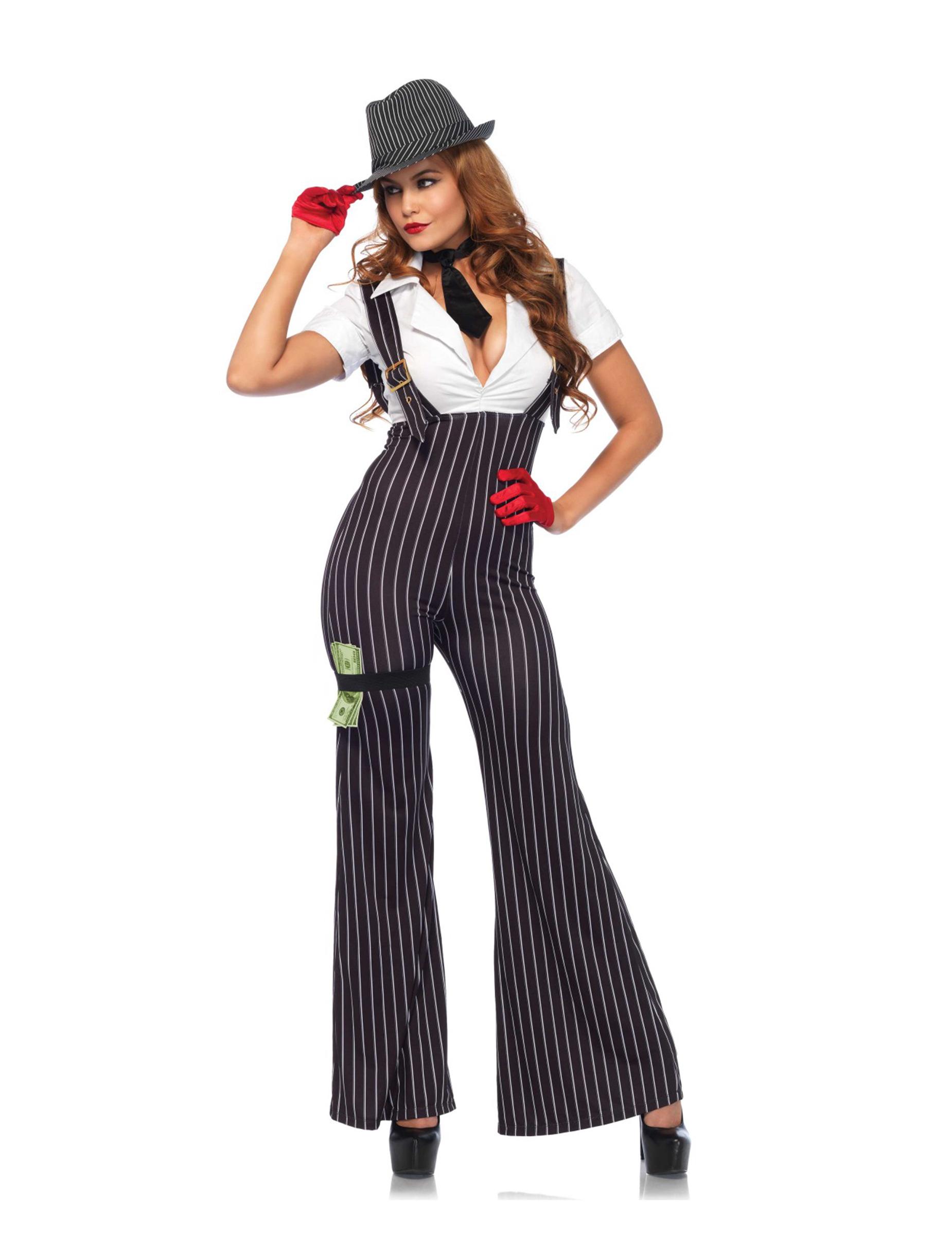 Kostym som gangster dam d0d92f1c83ab8