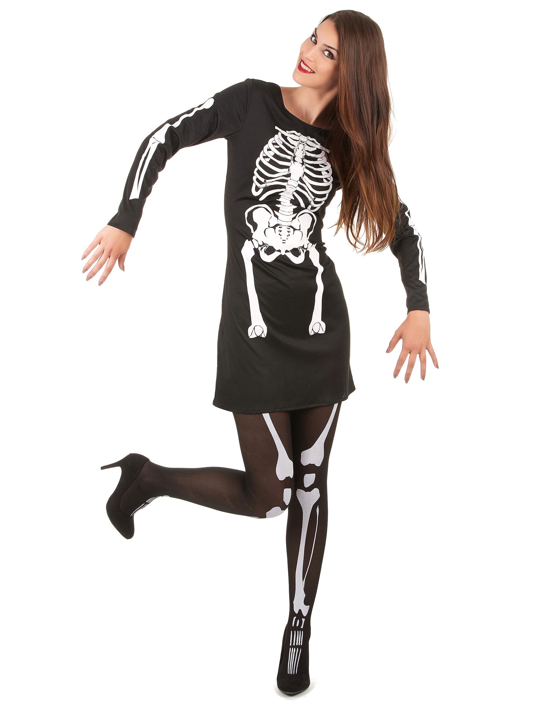 skelett kostym dam