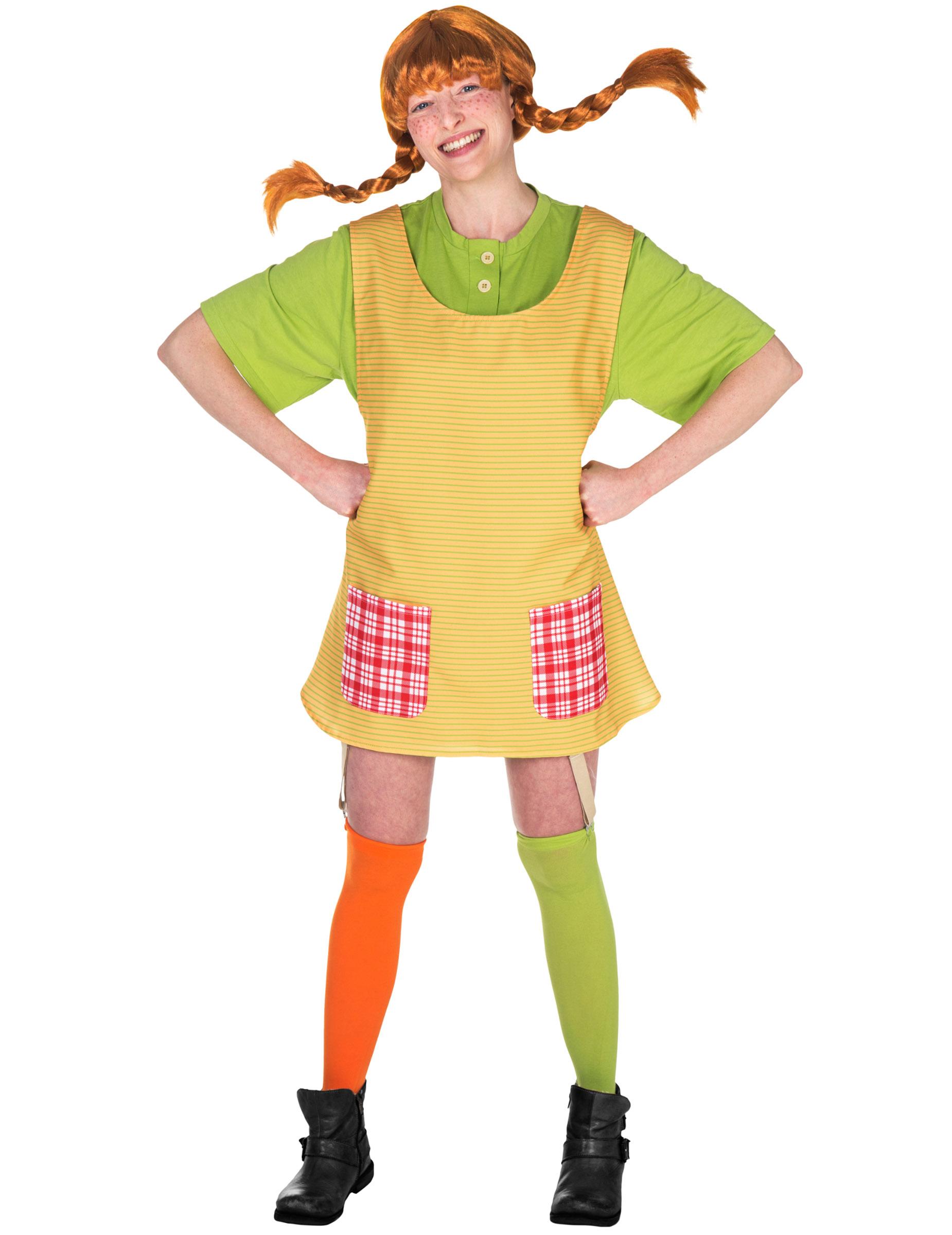 Pippi Långstrump-dräkt för vuxna 51f2210b5c0b9
