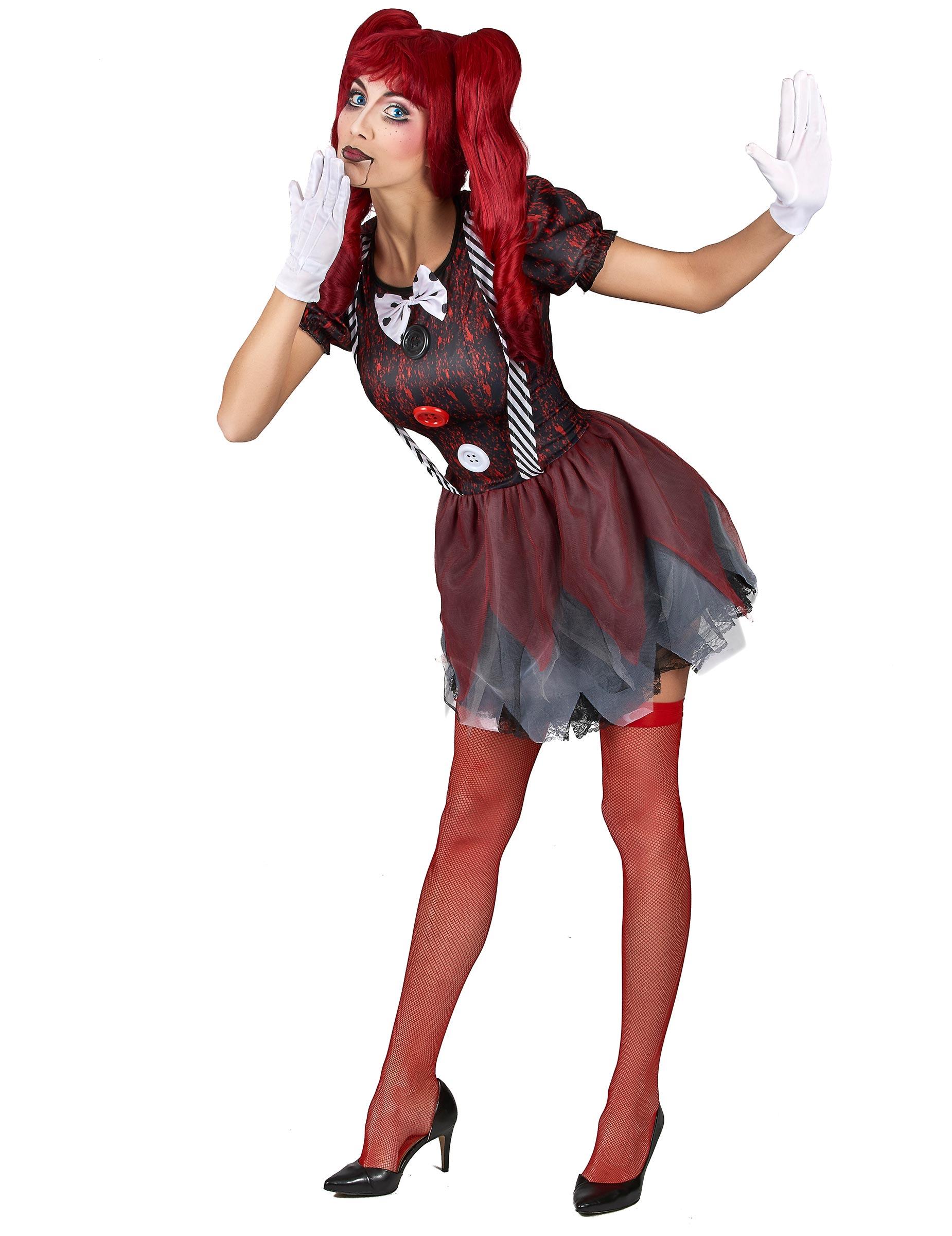 Kostym som skräckinjagande docka dam-1 32b35309e59f2