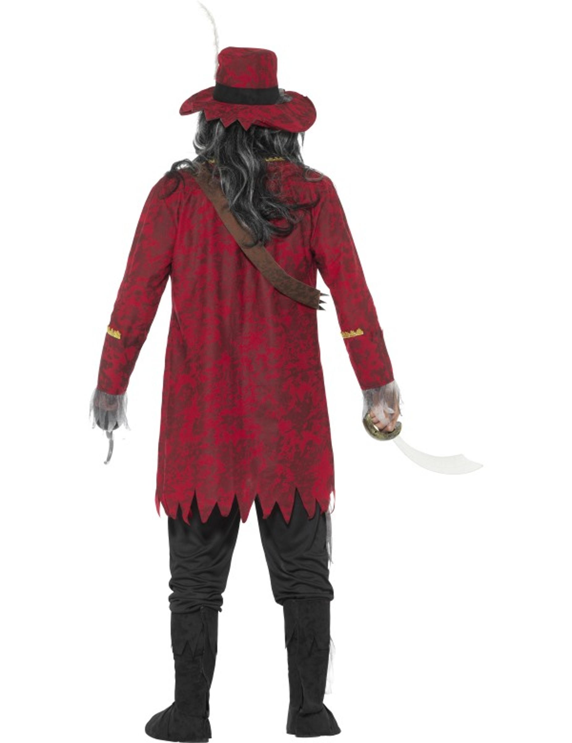 Lyxig zombiepirat - Halloweenkostym för vuxna 9d04086554a75