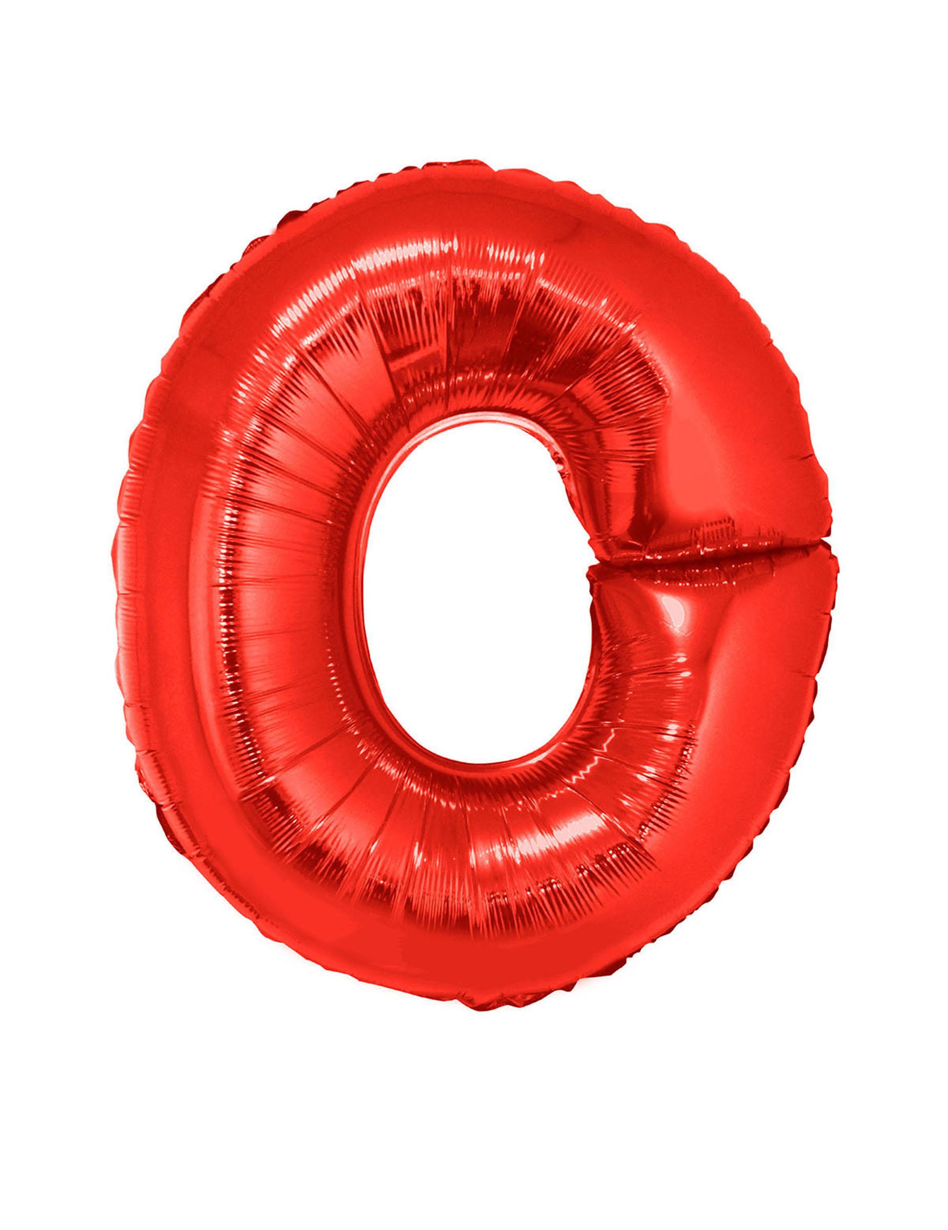 Bokstaven O - Aluminiumballong i rött 102 cm ff59bf4dd64e5