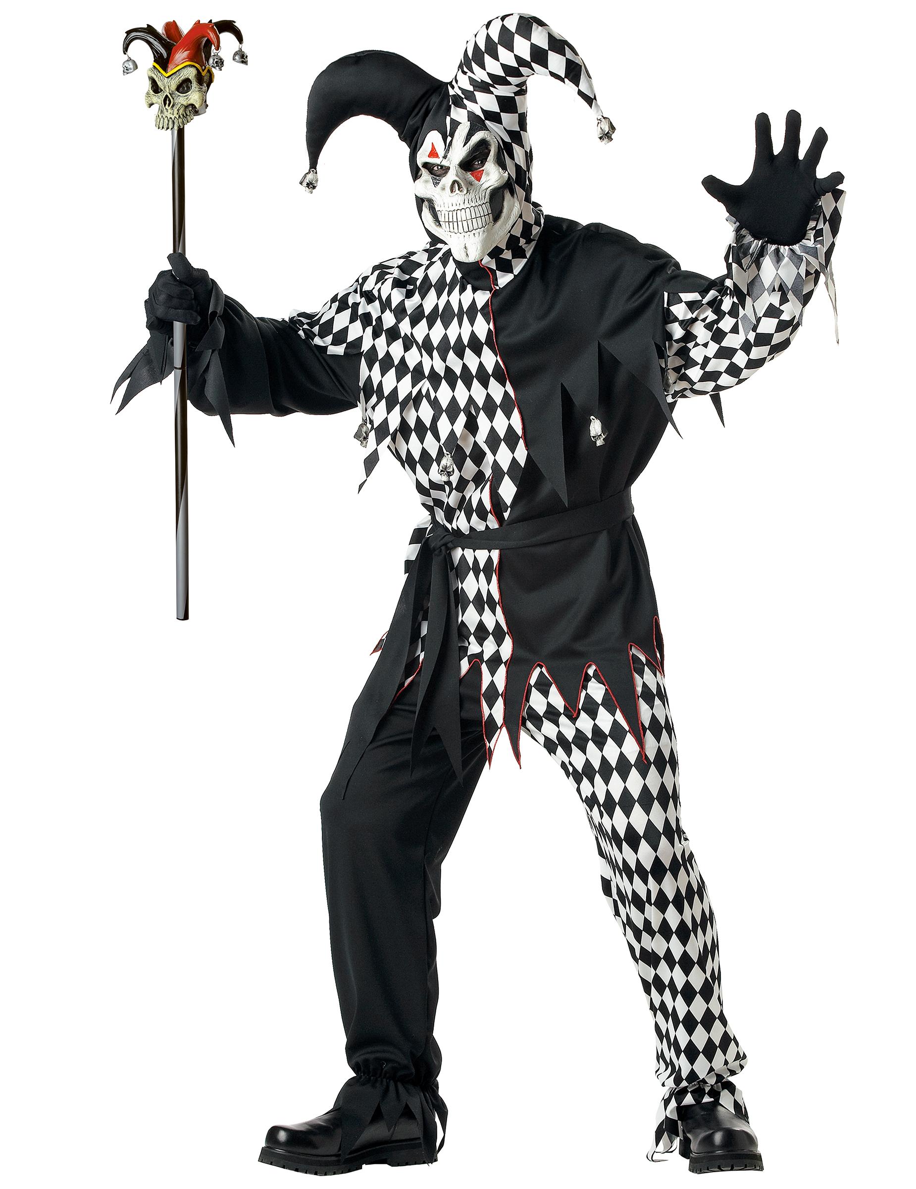Demonisk narr - Halloween kostym för vuxna 703b3a54184ba