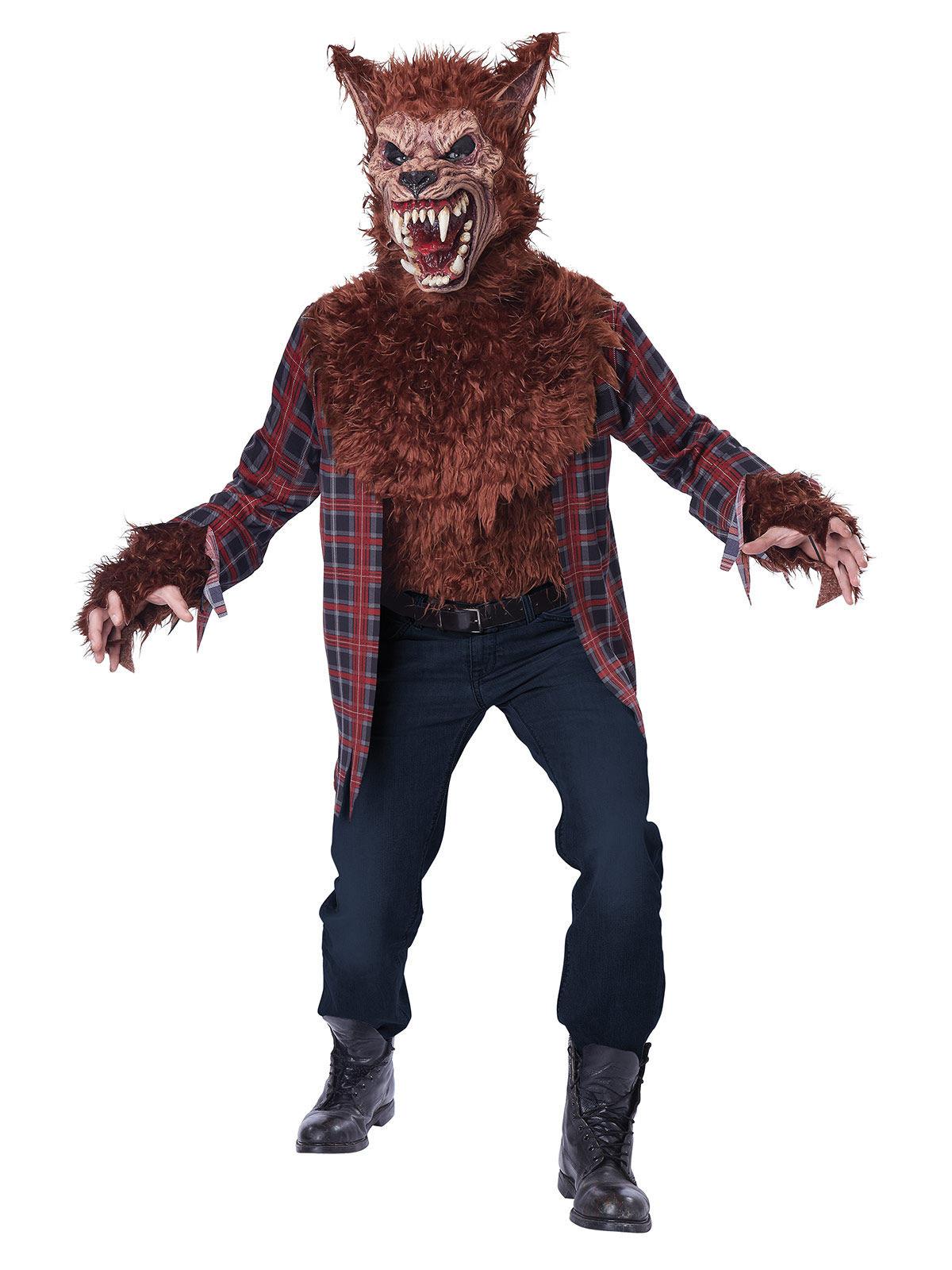 Skrämmande varulv i rött till Halloween för vuxna 2d655b27c8ecb