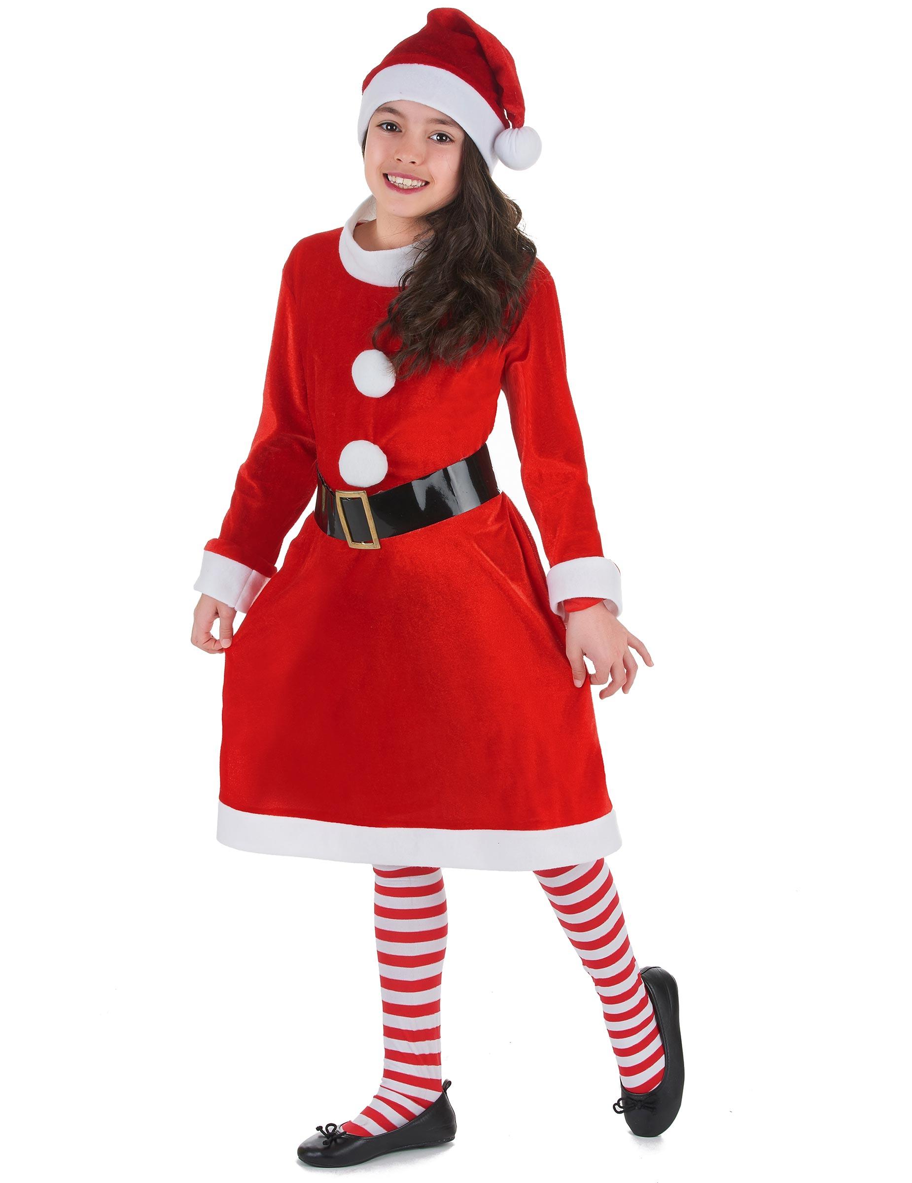 Tjusig tomteklänning för barn till jul-1 4b974ff43af92