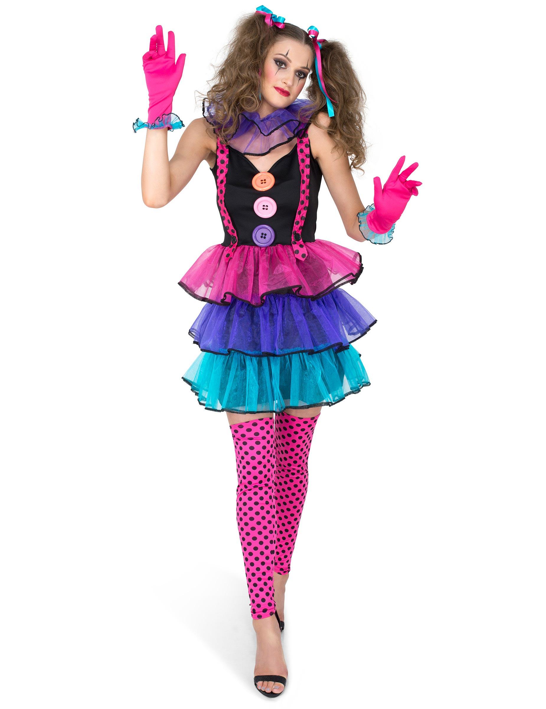 9b71c4e3c29b Färggrann clown - Maskeraddräkt för vuxna, köp Maskeradkläder för ...